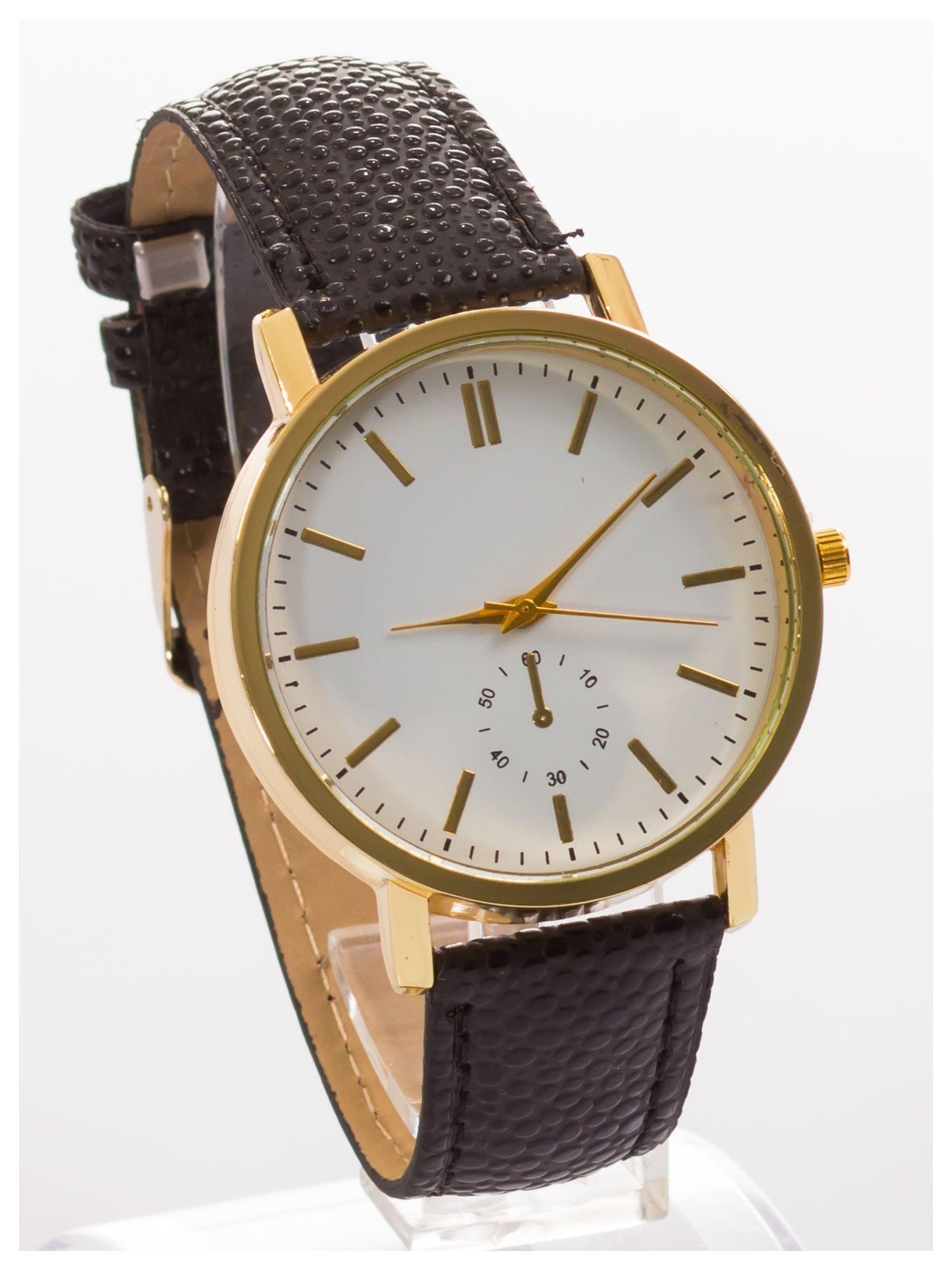 Damski zegarek. Duża, wyraźna tarcza. Elegancki. Ozdobny datownik. Doskonały na każdą okazję.                                   zdj.                                  3