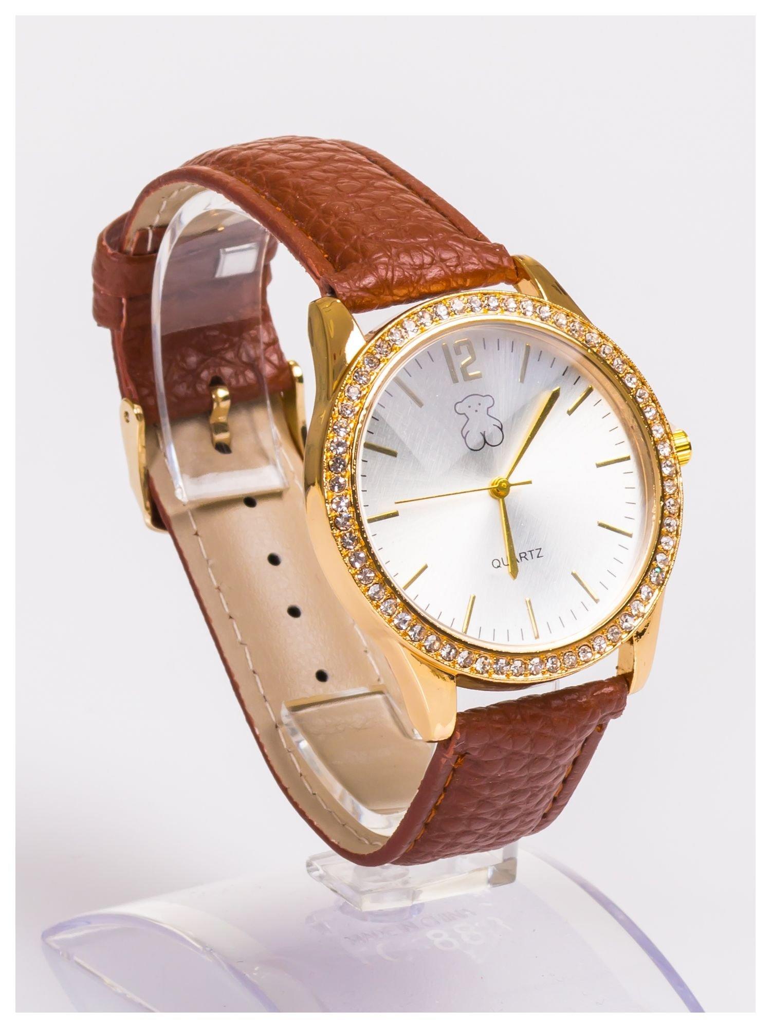 Damski zegarek z cyrkoniami z dużą wyraźną tarczą                                  zdj.                                  3