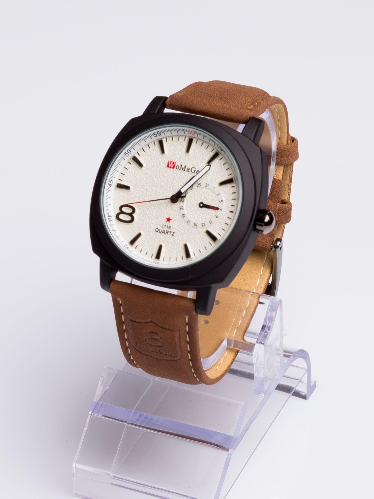 Dla Niego - Gustowny i nowoczesny piękny zegarek męski na skórzanym pasku                                  zdj.                                  2