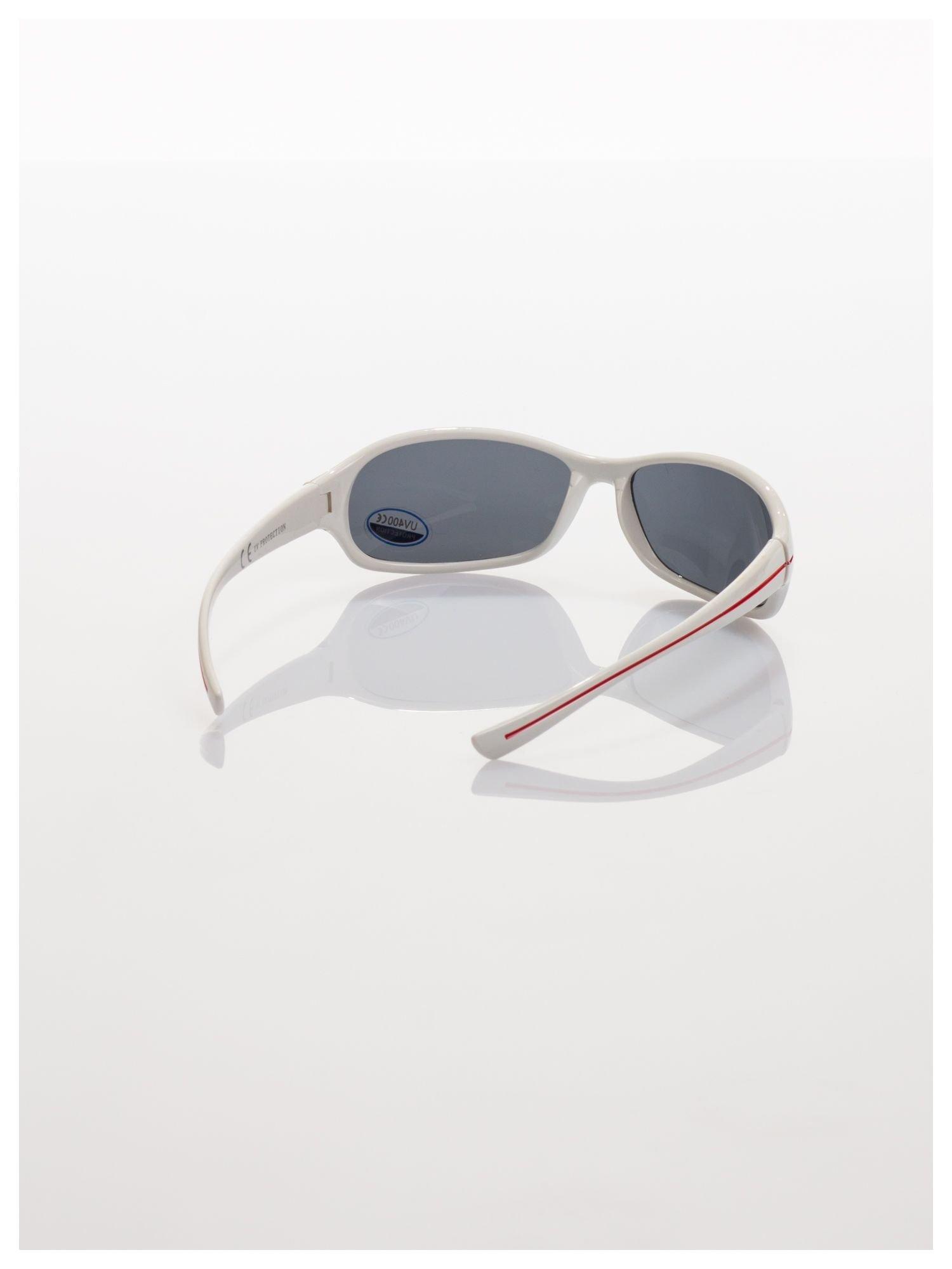Dziecięce białe okulary przeciwsłoneczne z filtrami                                   zdj.                                  3