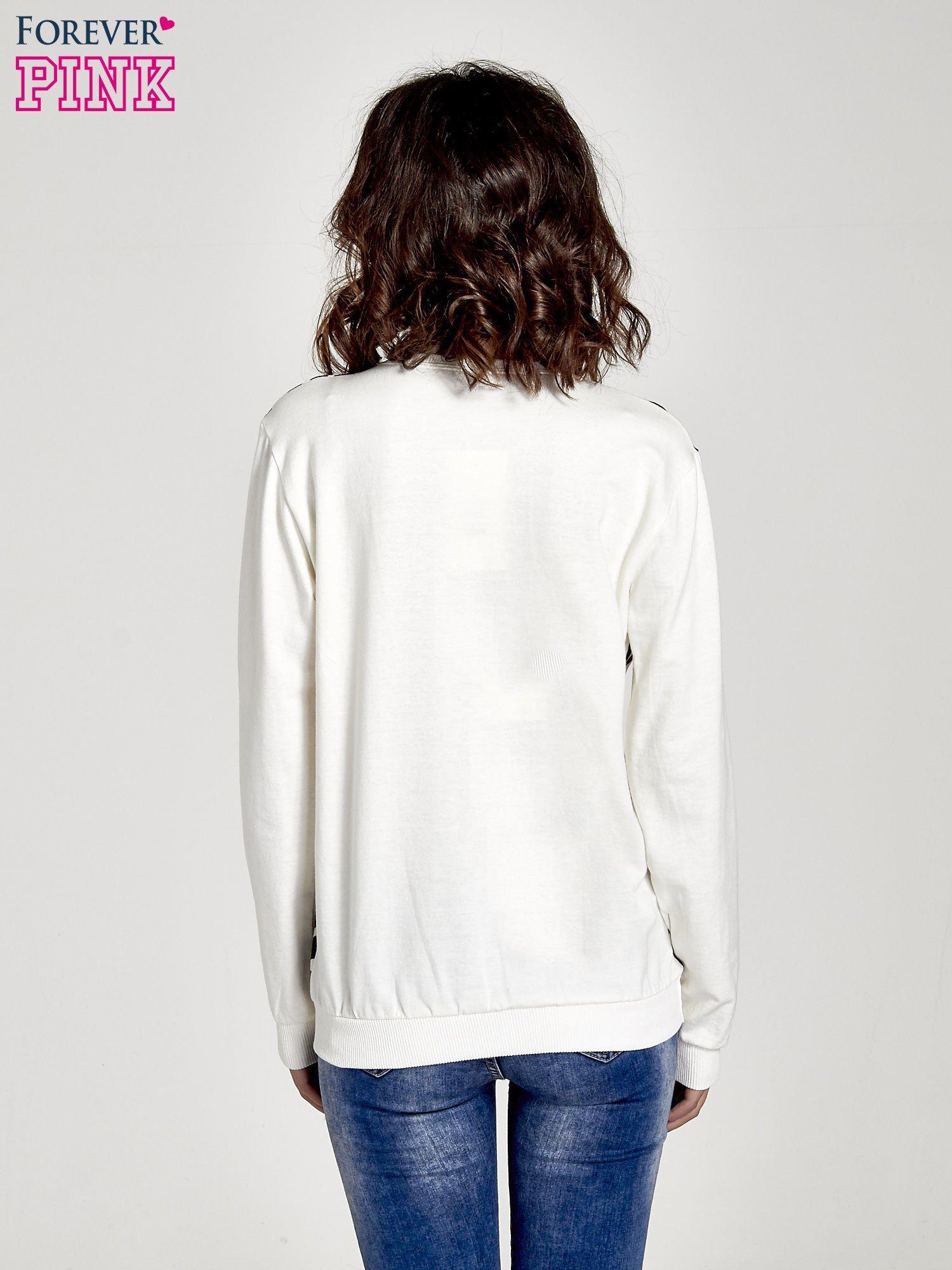 Ecru bluza z nadrukiem zebra print                                  zdj.                                  4
