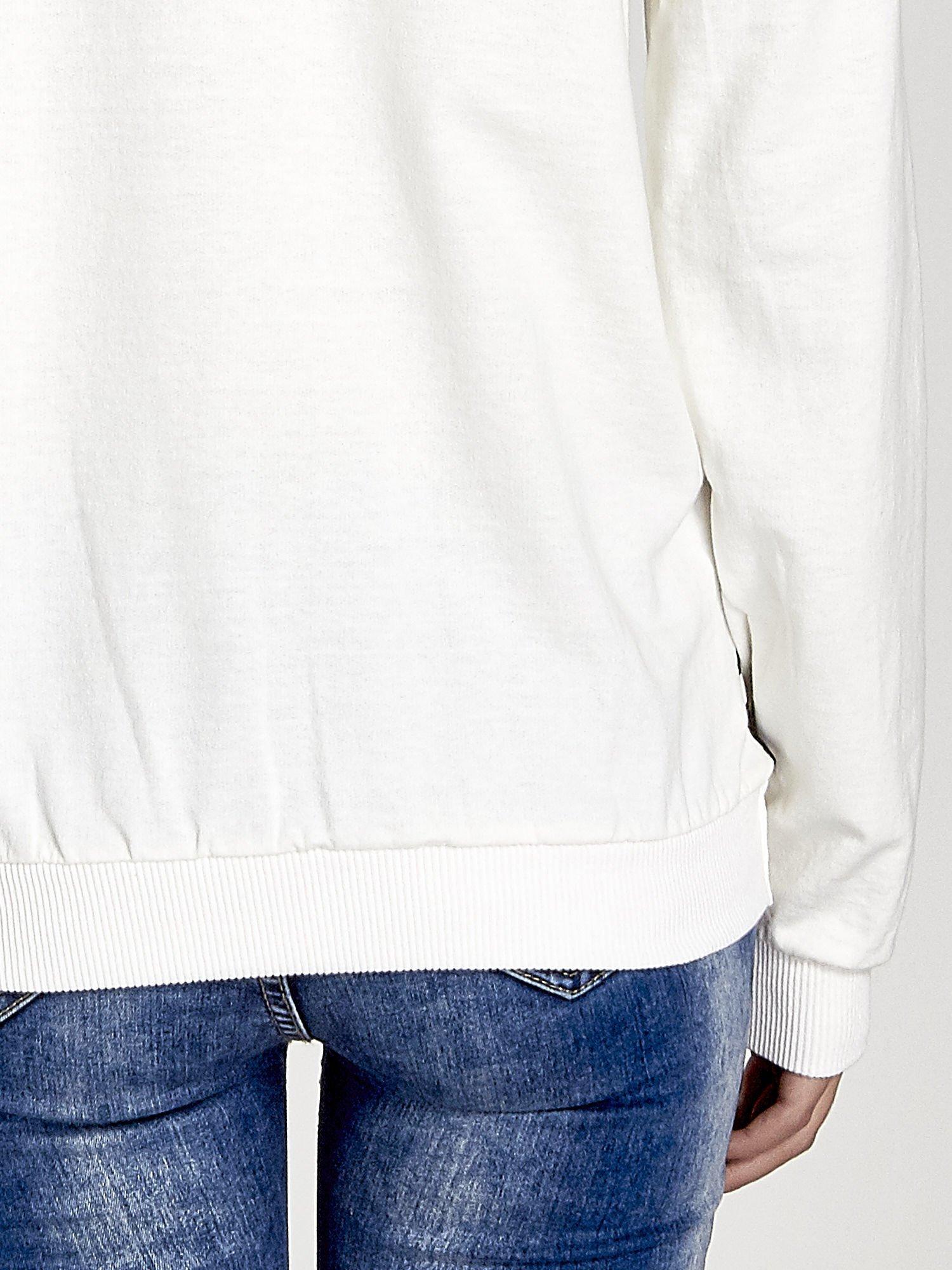 Ecru bluza z nadrukiem zebra print                                  zdj.                                  6