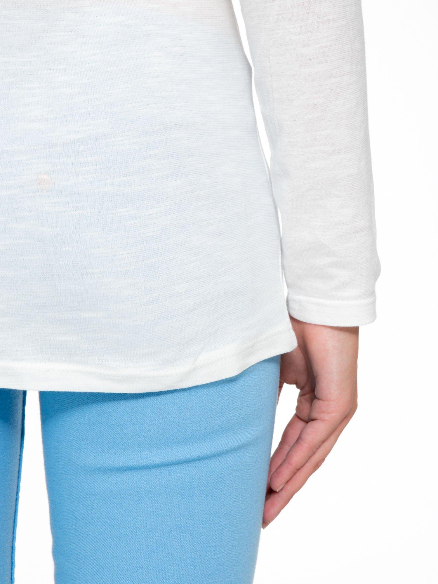 Ecru bluzka z nadrukiem Central Parku                                  zdj.                                  6