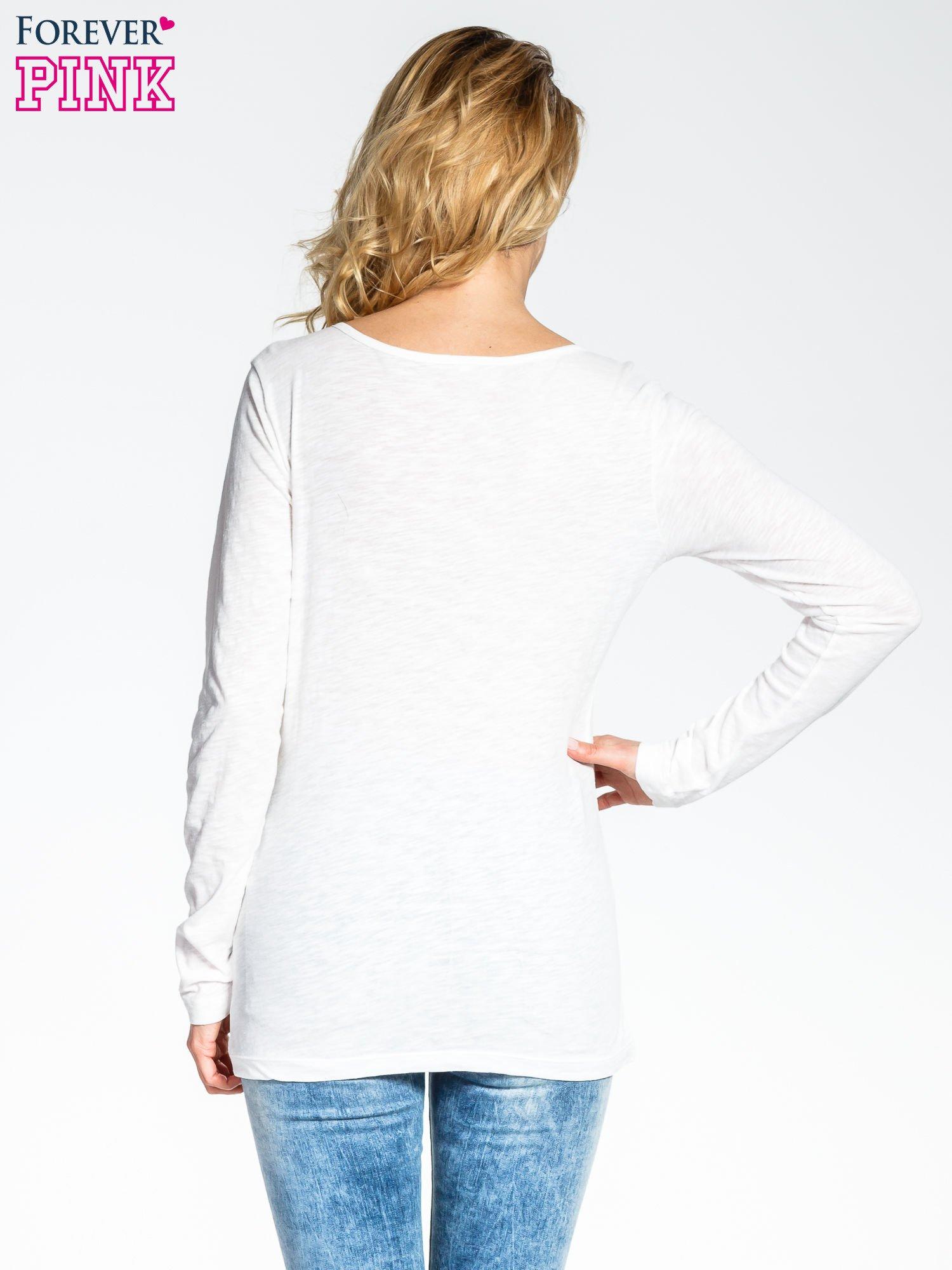Ecru bluzka z nadrukiem sówki                                  zdj.                                  4
