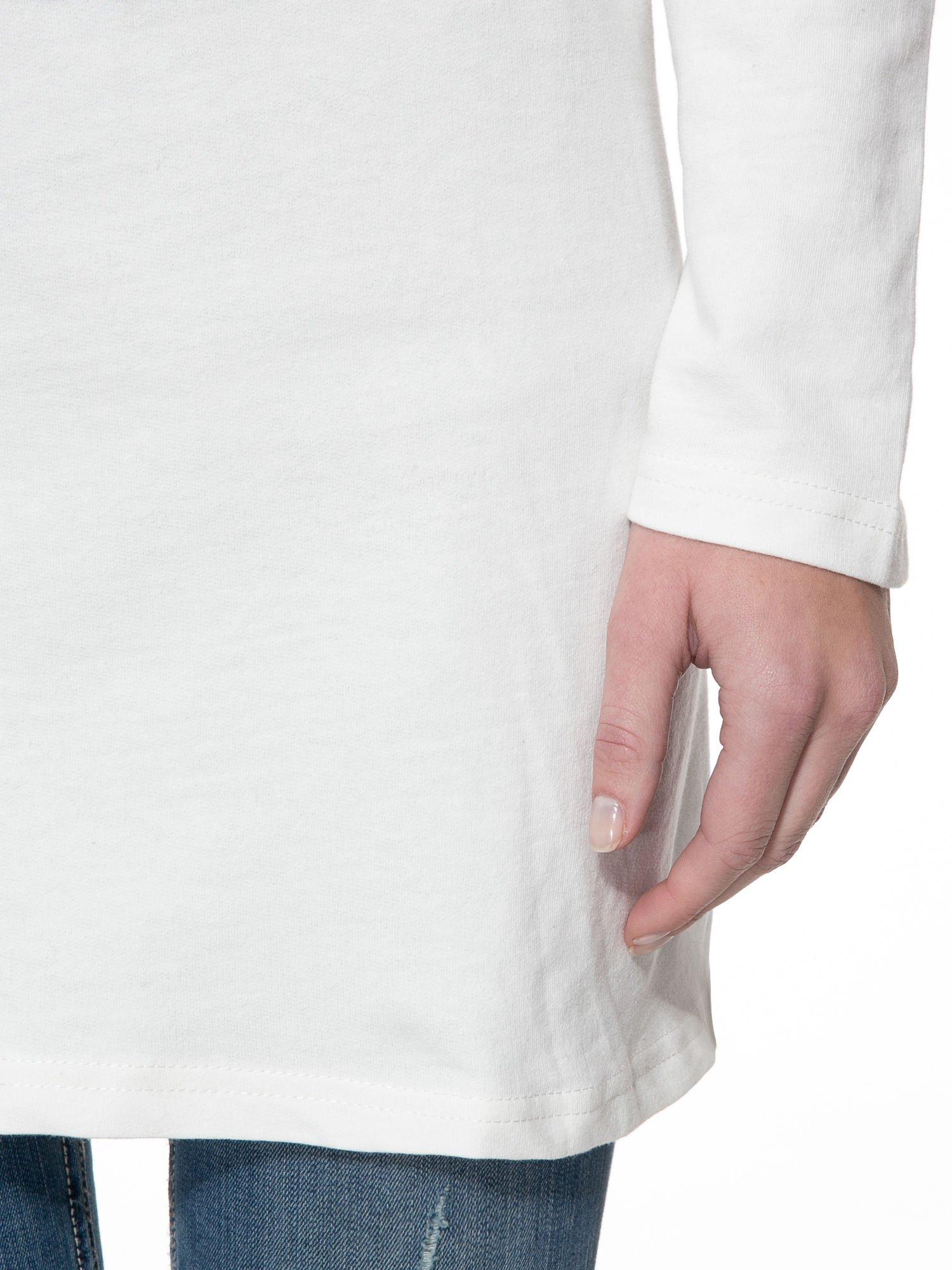 Ecru dresowa bluza z literą A w stylu baseballowym                                  zdj.                                  6
