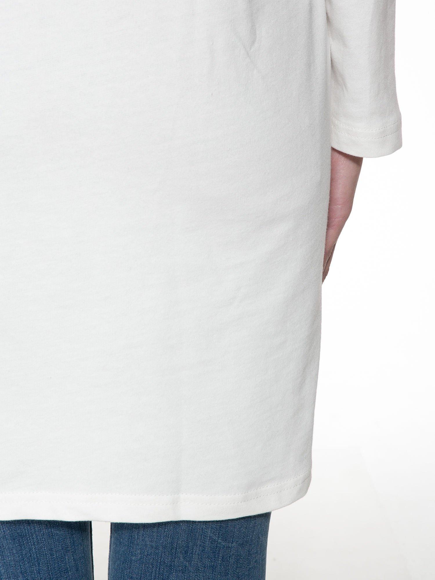 Ecru dresowa bluza z literą A w stylu baseballowym                                  zdj.                                  9