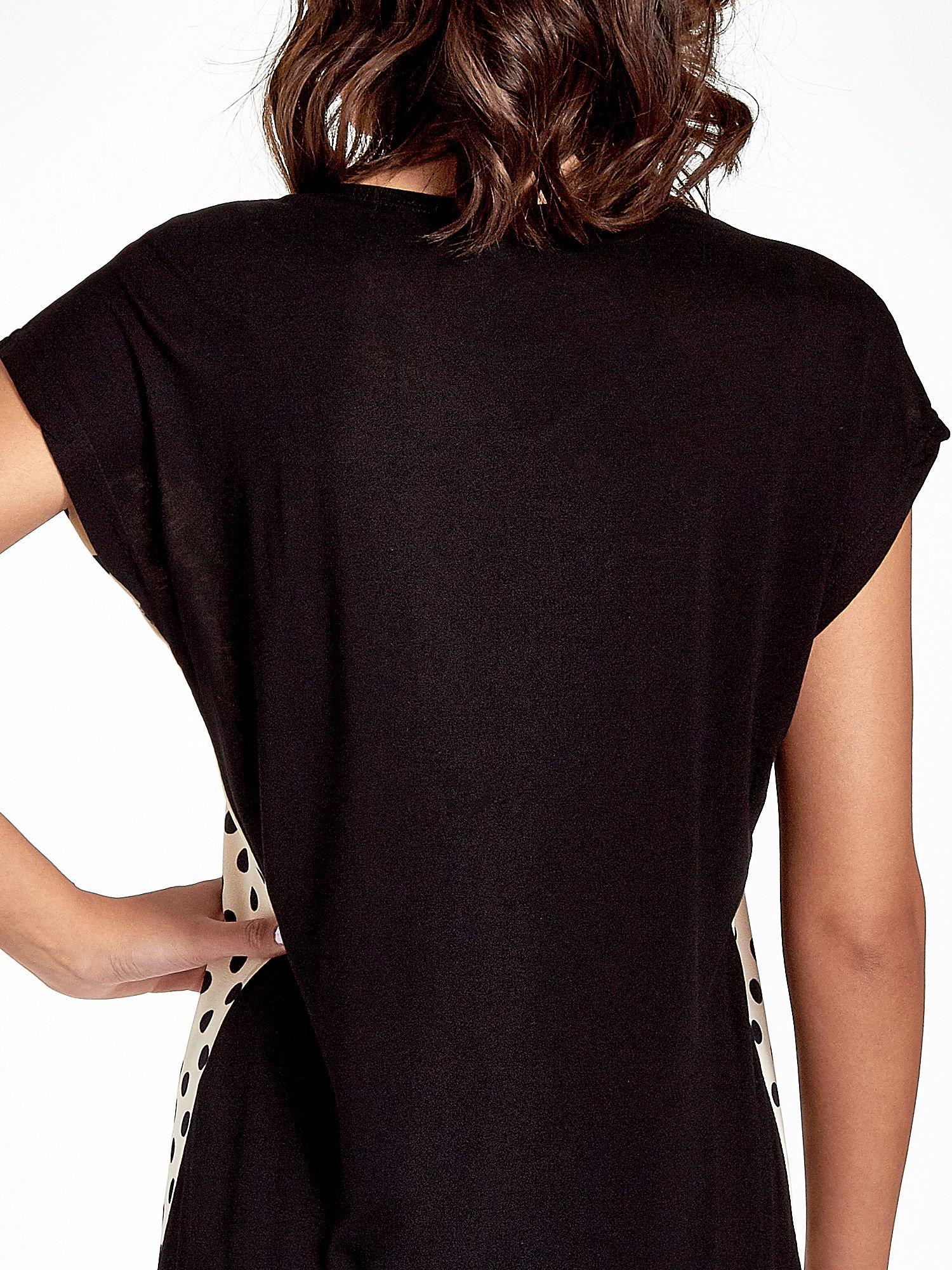 Ecru t-shirt w groszki                                  zdj.                                  6