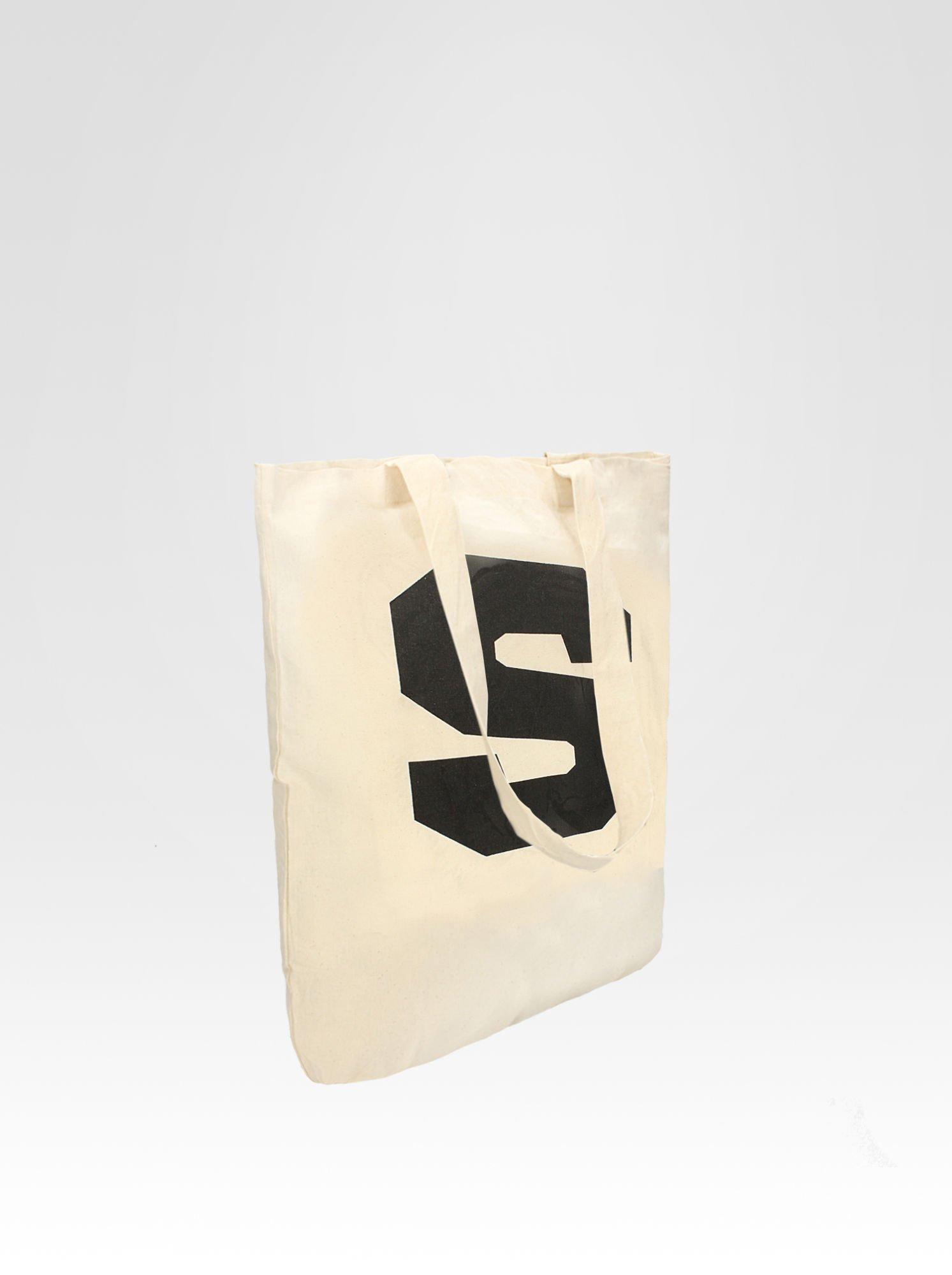 Ekotorba bawełniana z nadrukiem litery S                                  zdj.                                  2