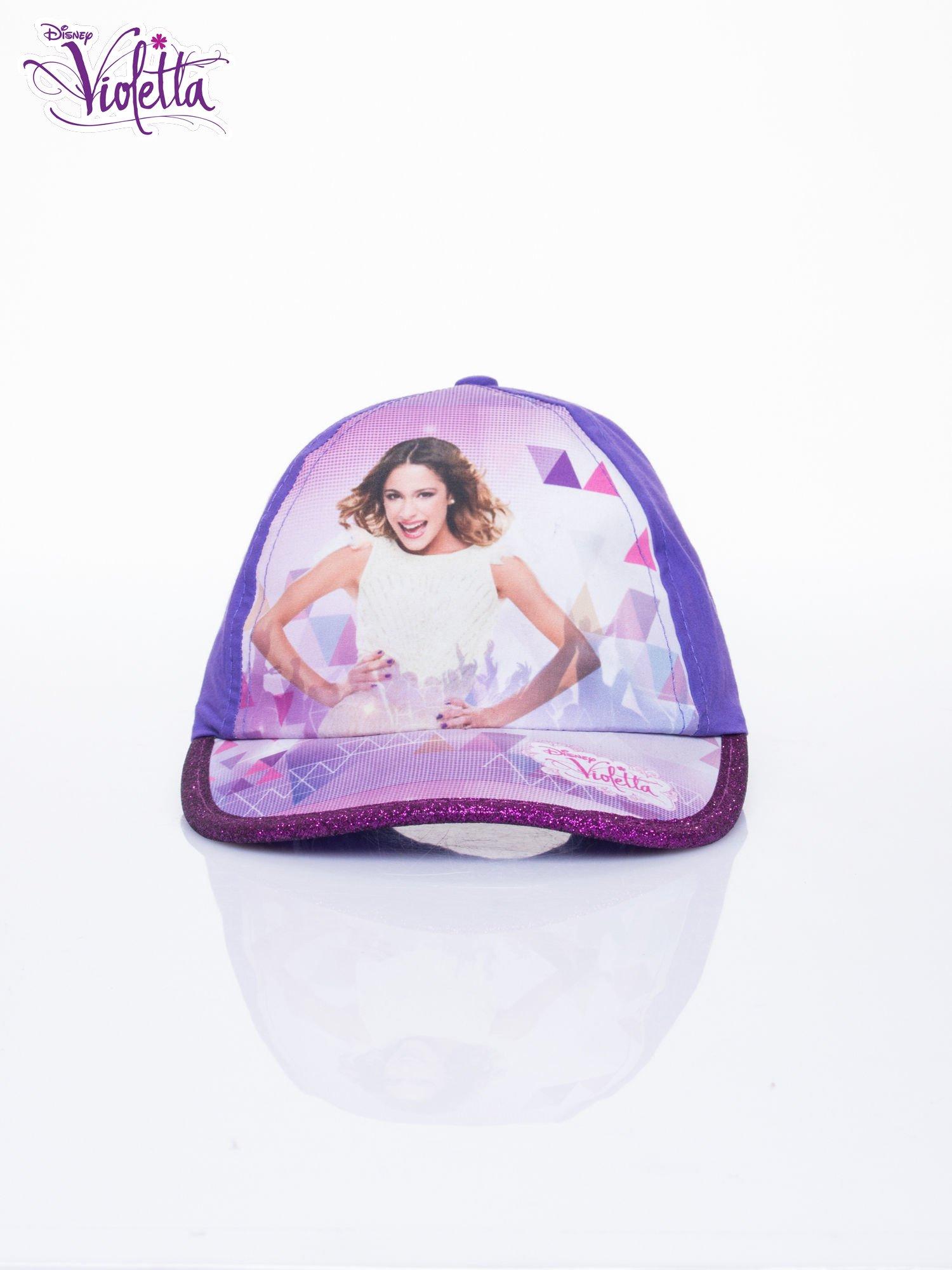 Fioletowa czapka z daszkiem dla dziewczynki VIOLETTA                                  zdj.                                  1