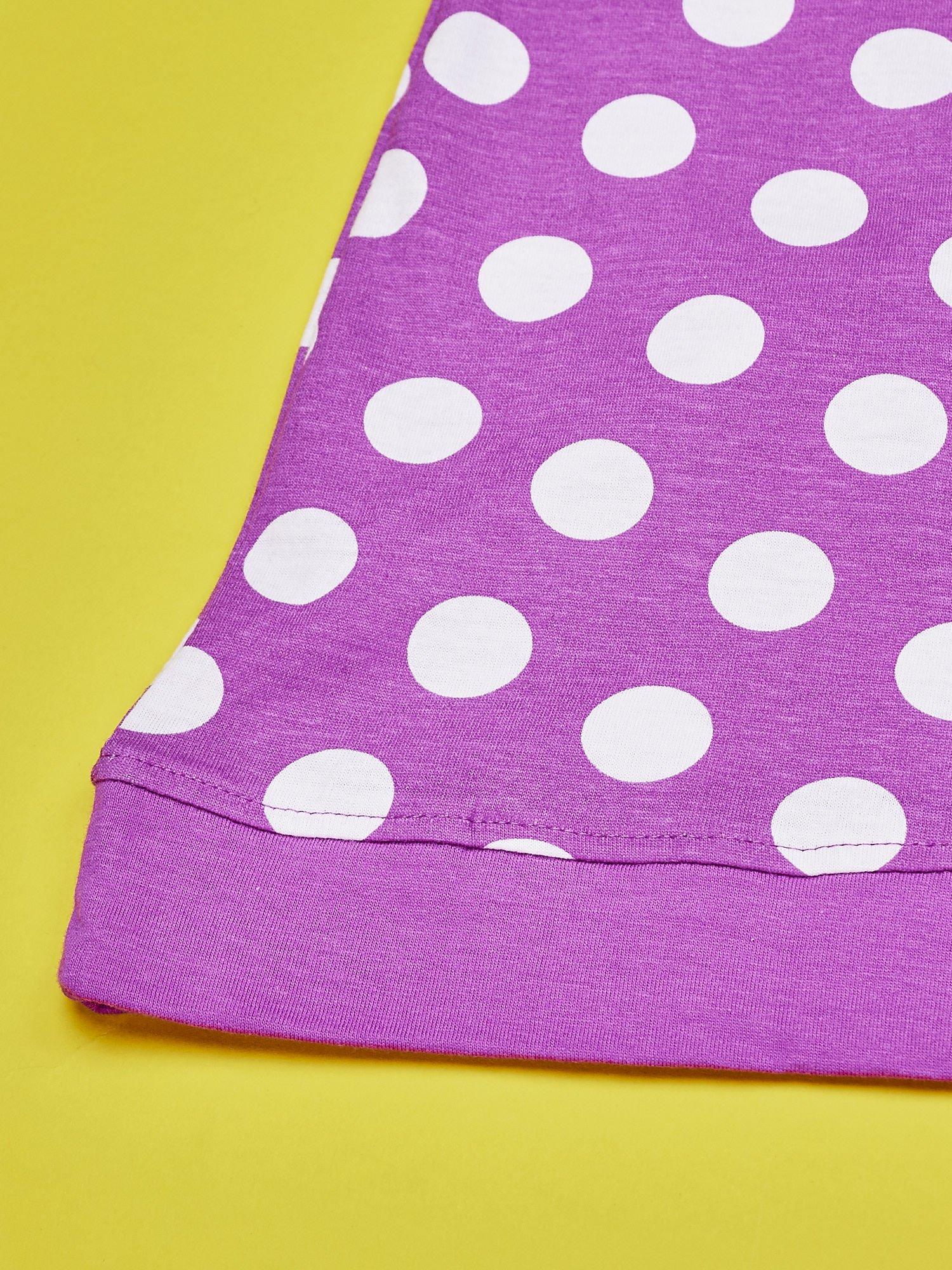 Fioletowa sukienka w groszki dla dziewczynki FURBY                                  zdj.                                  5