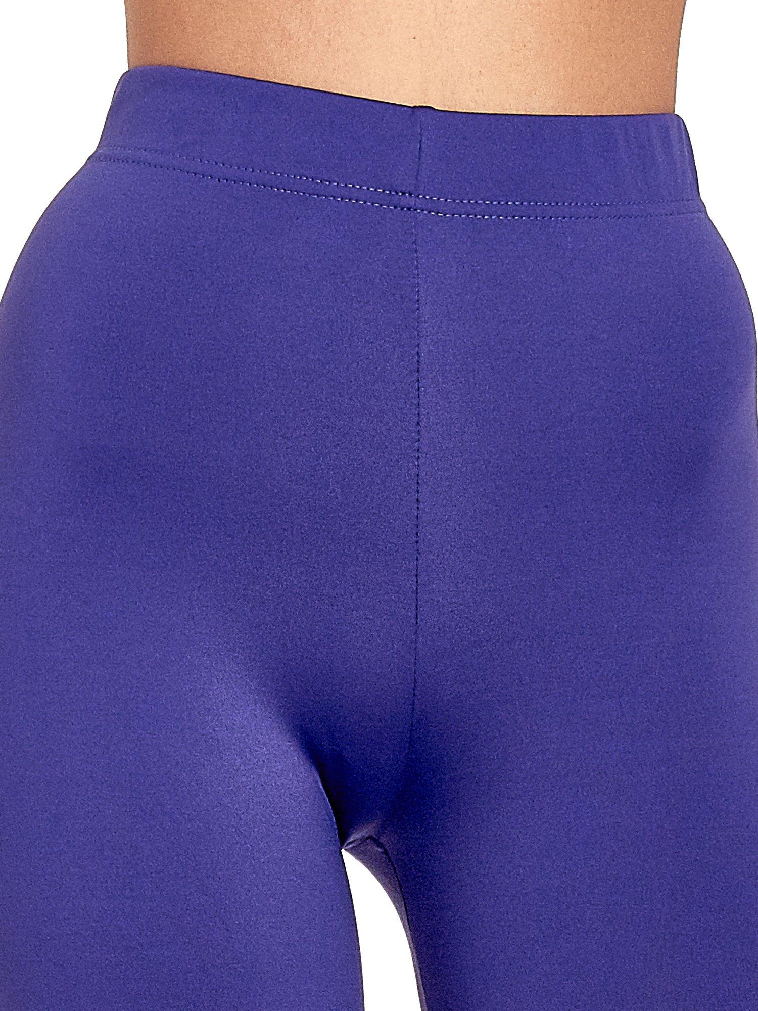 Fioletowe legginsy basic z lekkim ociepleniem                                  zdj.                                  5