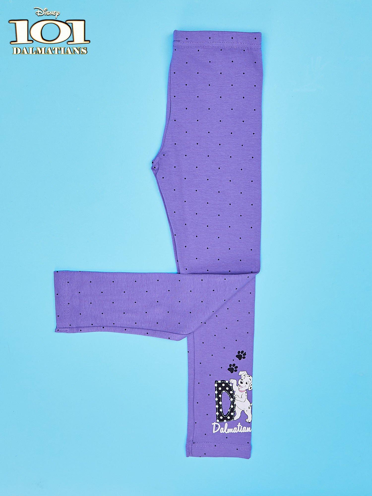 Fioletowe legginsy w kropki dla dziewczynki 101 DALMATYŃCZYKÓW                                  zdj.                                  3