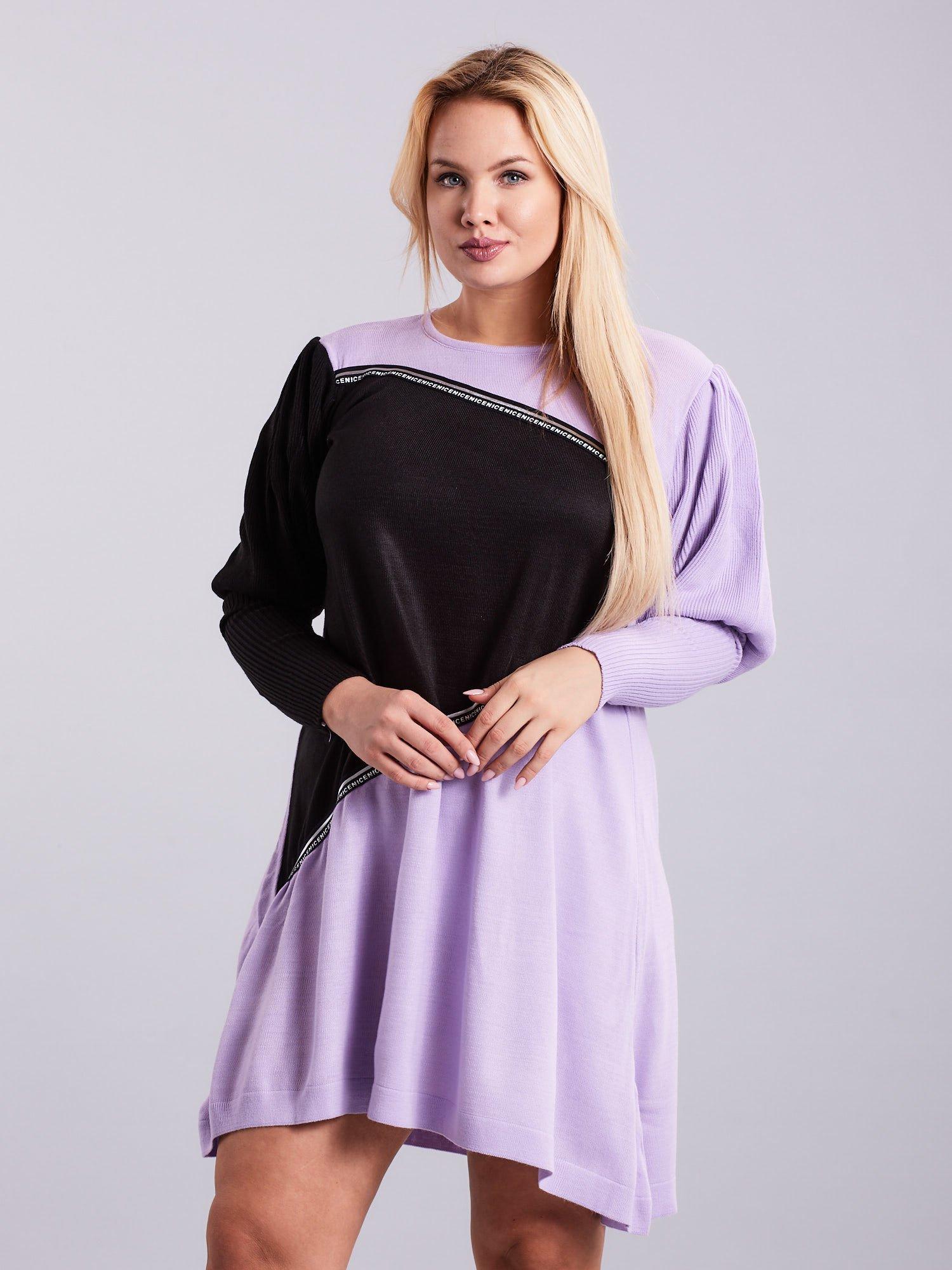 3c9acda226 Jasnoróżowa luźna sukienka z dzianiny - Sukienka dzianinowa - sklep  eButik.pl