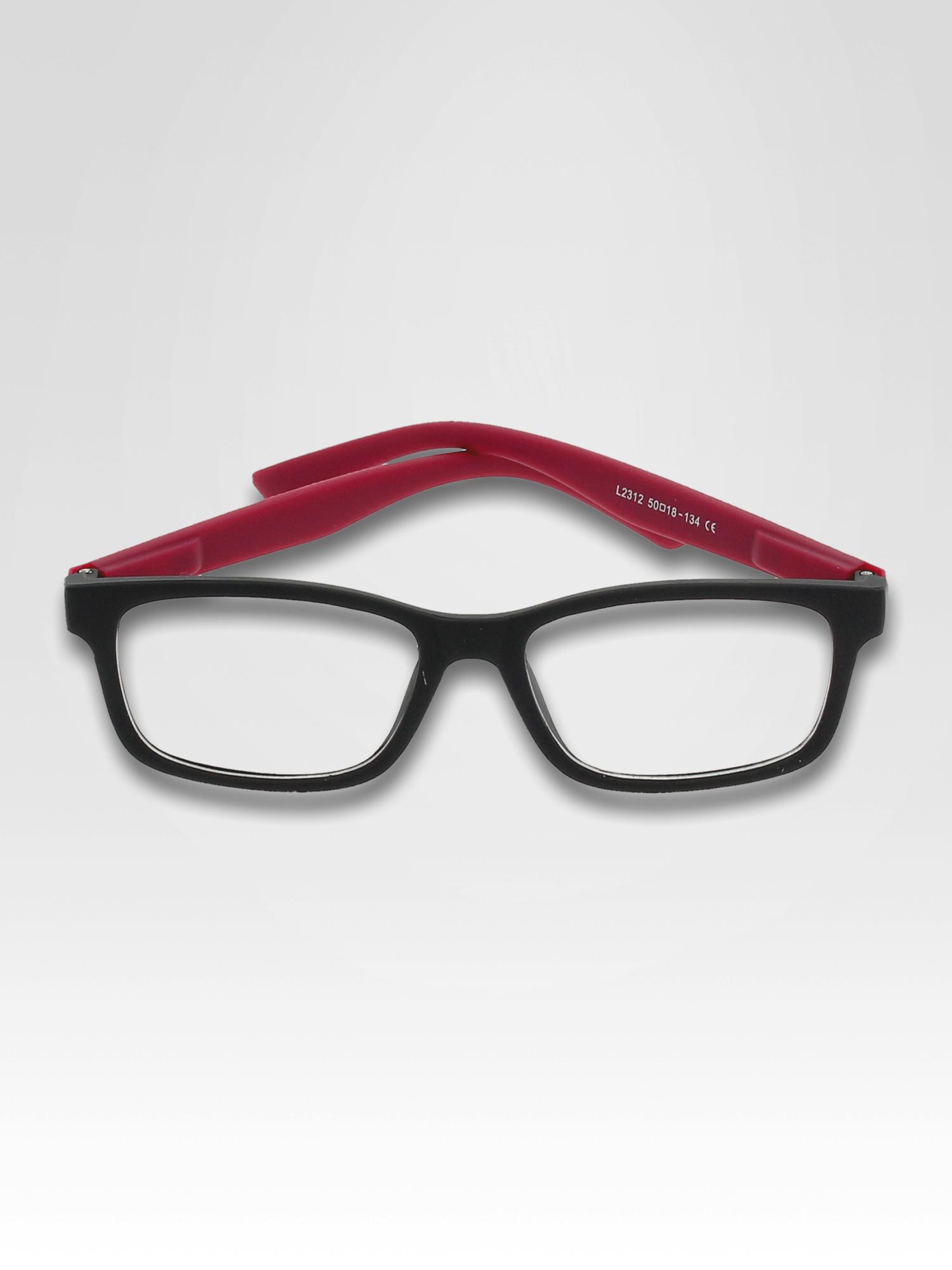 Fioletowo-czarne okulary zerówki kujonki typu WAYFARER NERDY matowe                                  zdj.                                  1