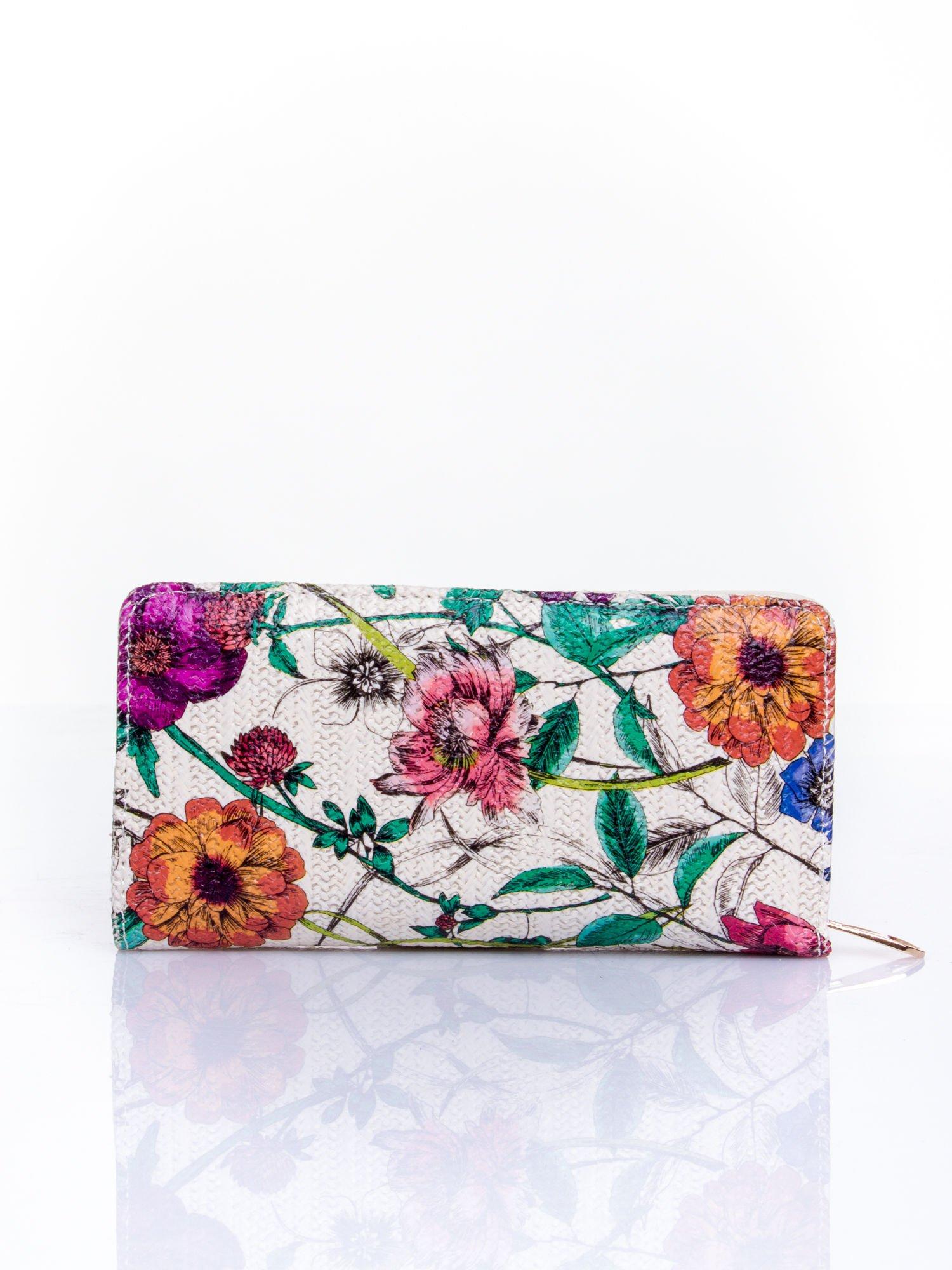 Fioletowy portfel z egzotycznym nadrukiem                                  zdj.                                  2