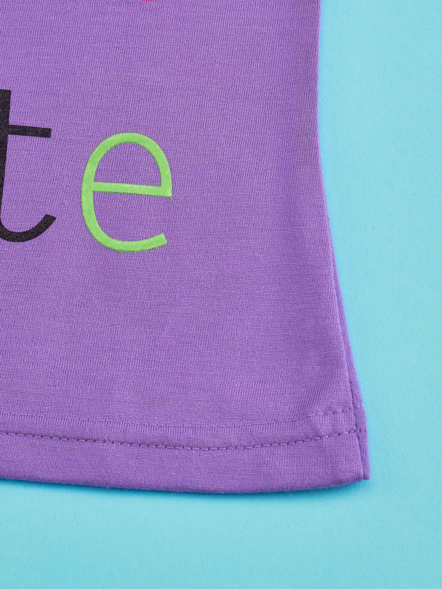 Fioletowy t-shirt dla dziewczynki HELLO KITTY                                  zdj.                                  5