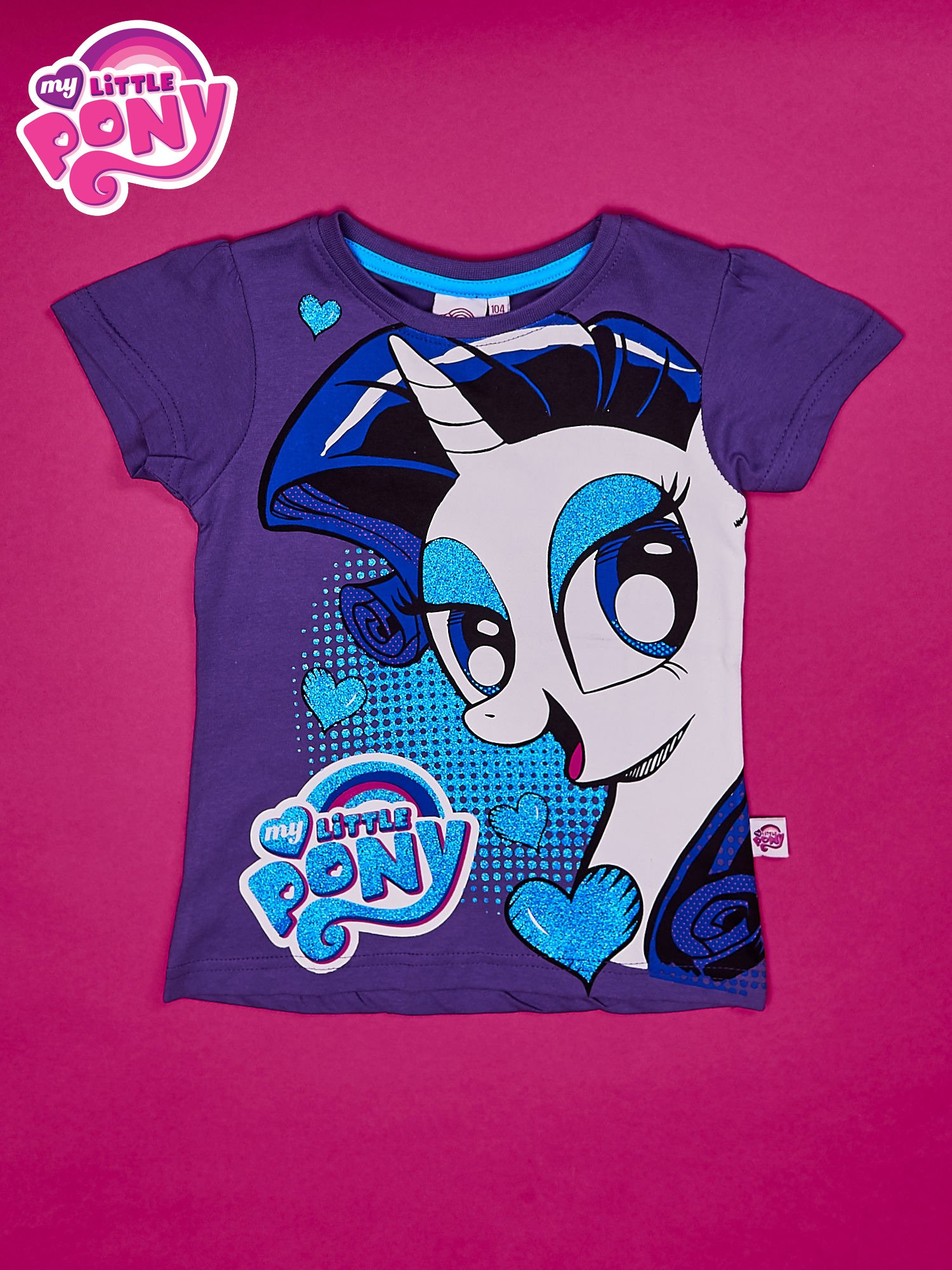 Fioletowy t-shirt dla dziewczynki MY LITTLE PONY                                  zdj.                                  1