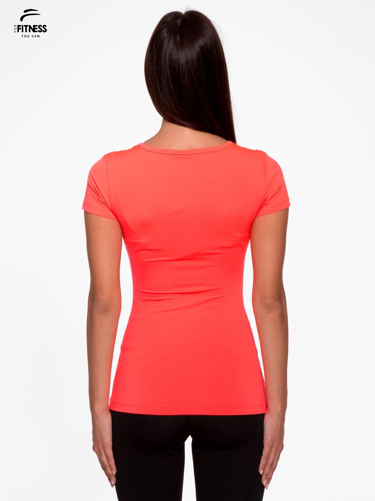 4f6831e5d9fdc4 3; Fluoróżowy termoaktywny t-shirt sportowy z siateczką przy dekolcie ♢ Performance  RUN ...