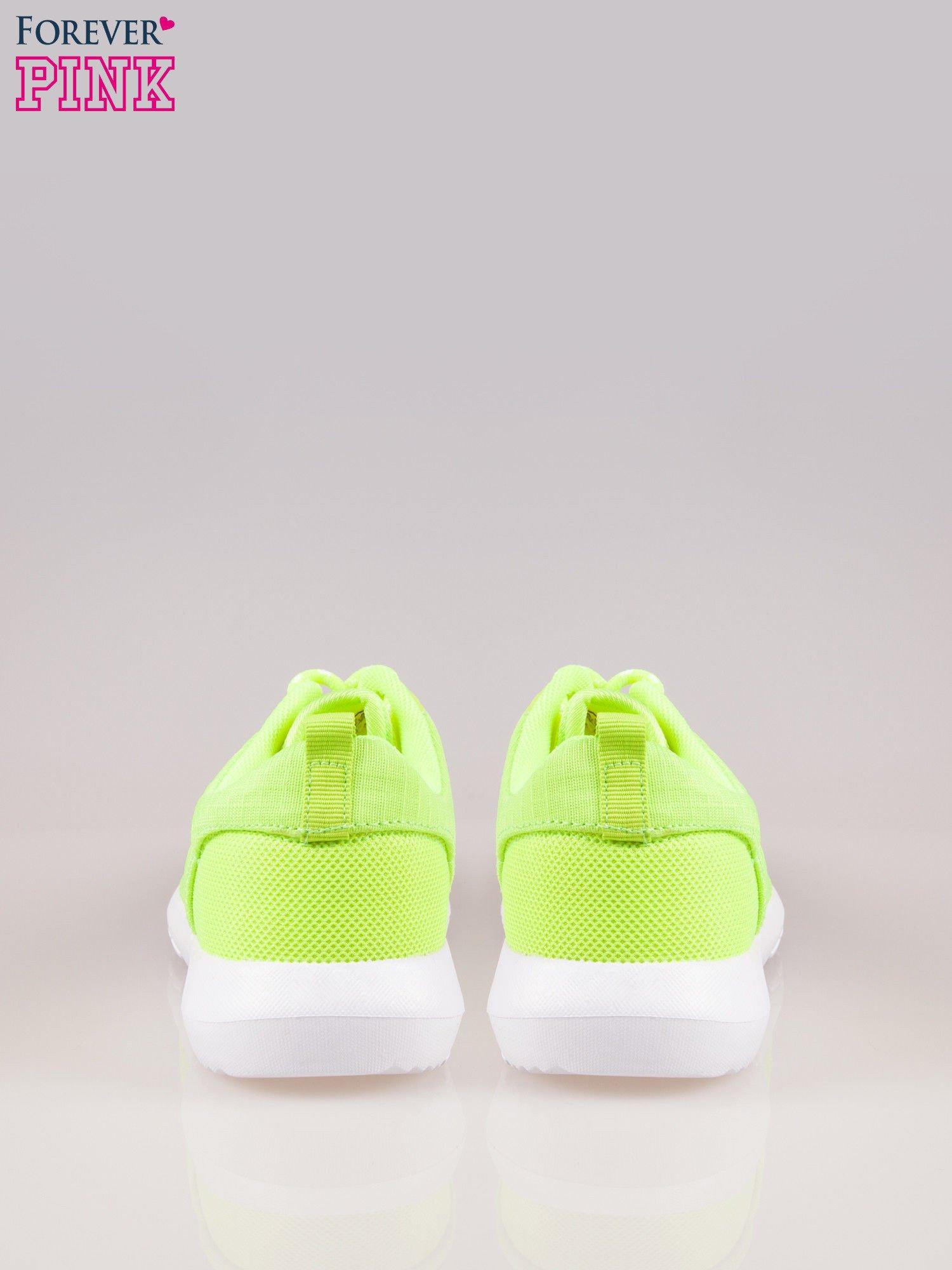 Fluozielone buty sportowe eco leather On Fire                                  zdj.                                  3