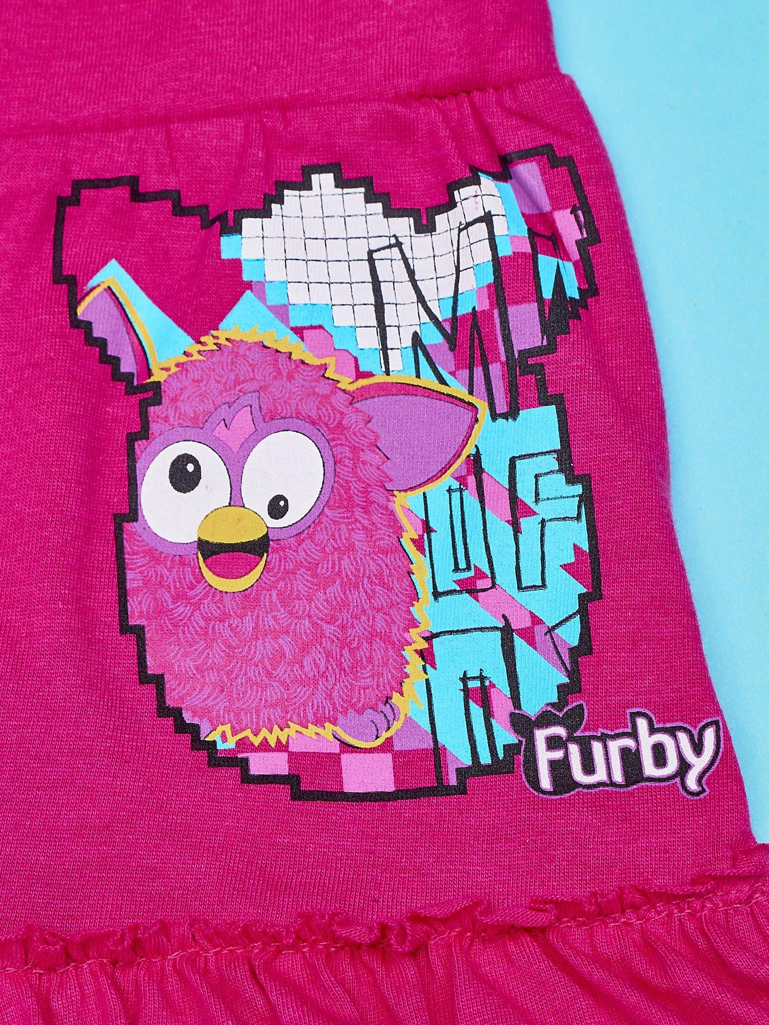 Fuksjowa spódnica dla dziewczynki FURBY                                  zdj.                                  4