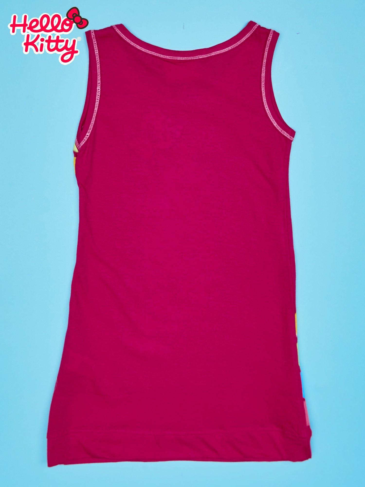Fuksjowa sukienka dla dziewczynki bez rękawów HELLO KITTY                                   zdj.                                  2