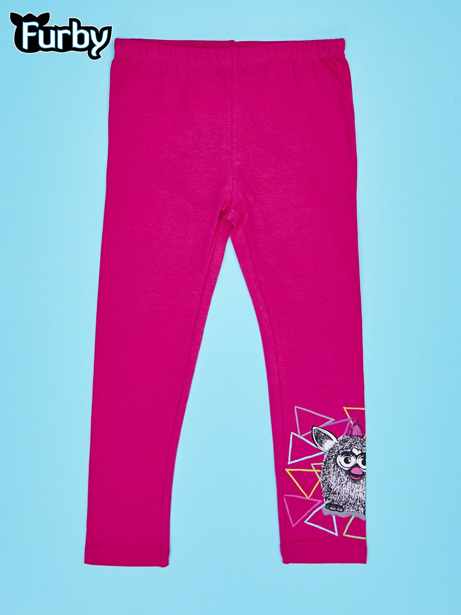 Fuksjowe legginsy dla dziewczynki z motywem FURBY                                  zdj.                                  1