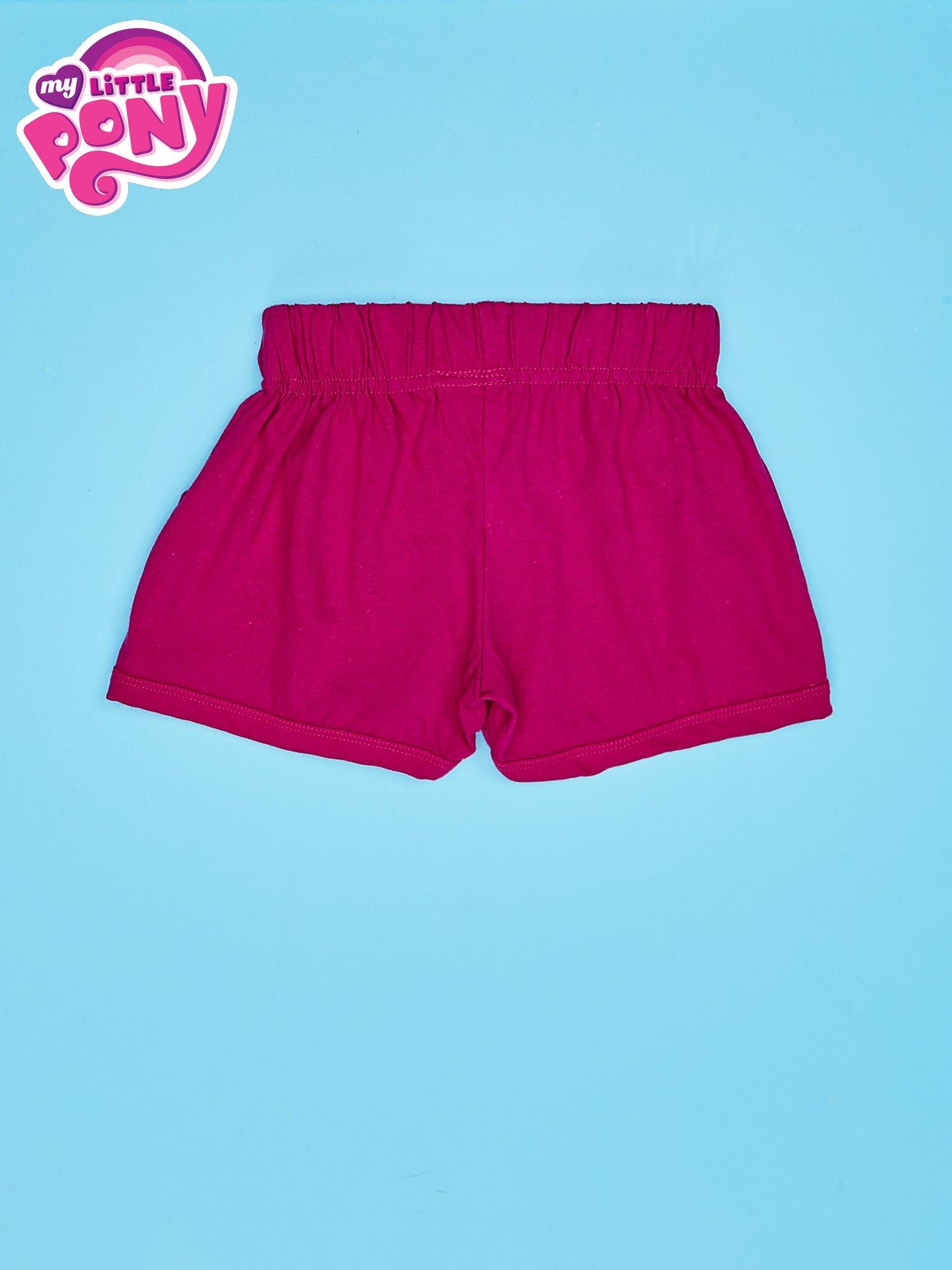 Fuksjowe szorty dla dziewczynki z różowym nadrukiem MY LITTLE PONY                                  zdj.                                  2
