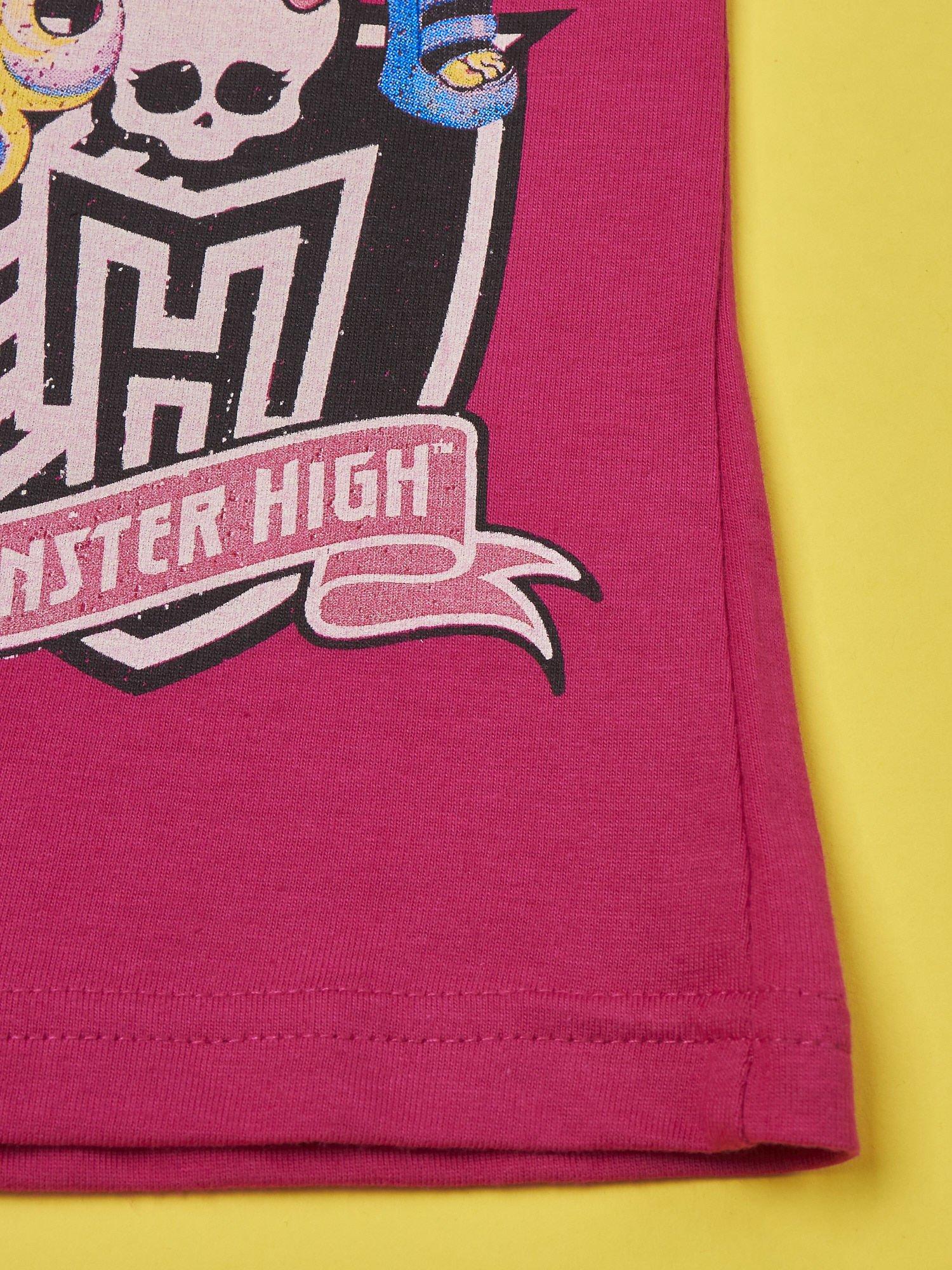 Fuksjowy t-shirt dla dziewczynki MONSTER HIGH                                  zdj.                                  5