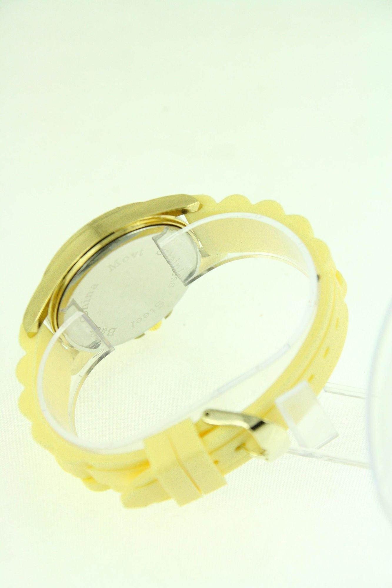 GENEVA Morelowy zegarek damski z cyrkoniami na silikonowym pasku                                  zdj.                                  3