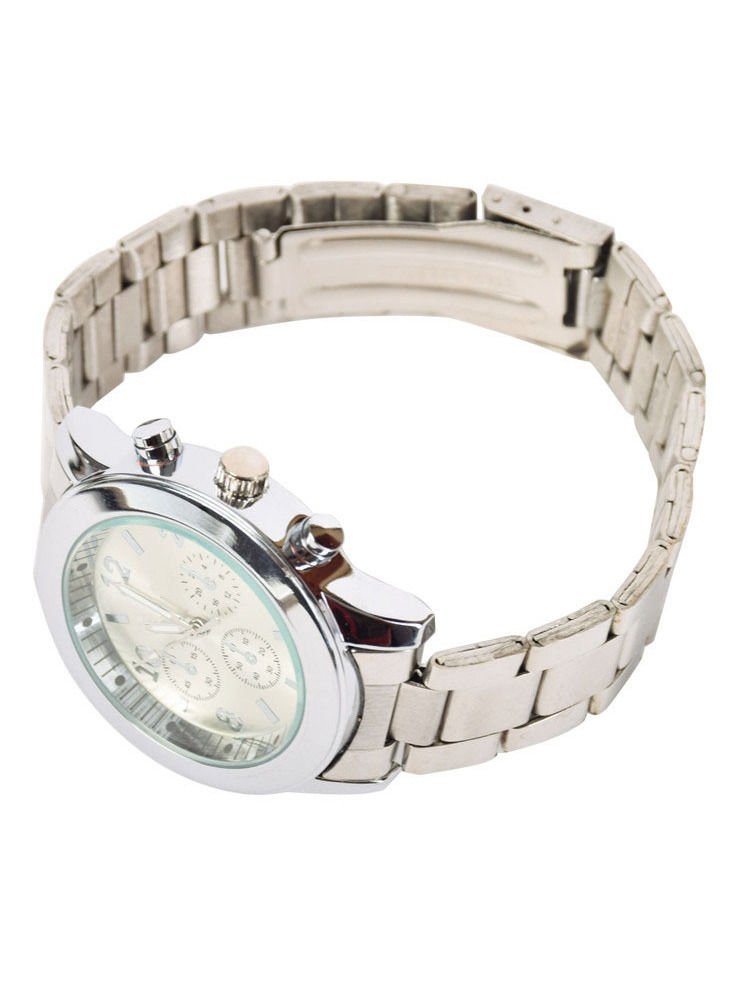 GENEVA Srebrny zegarek damski na bransolecie                                  zdj.                                  2