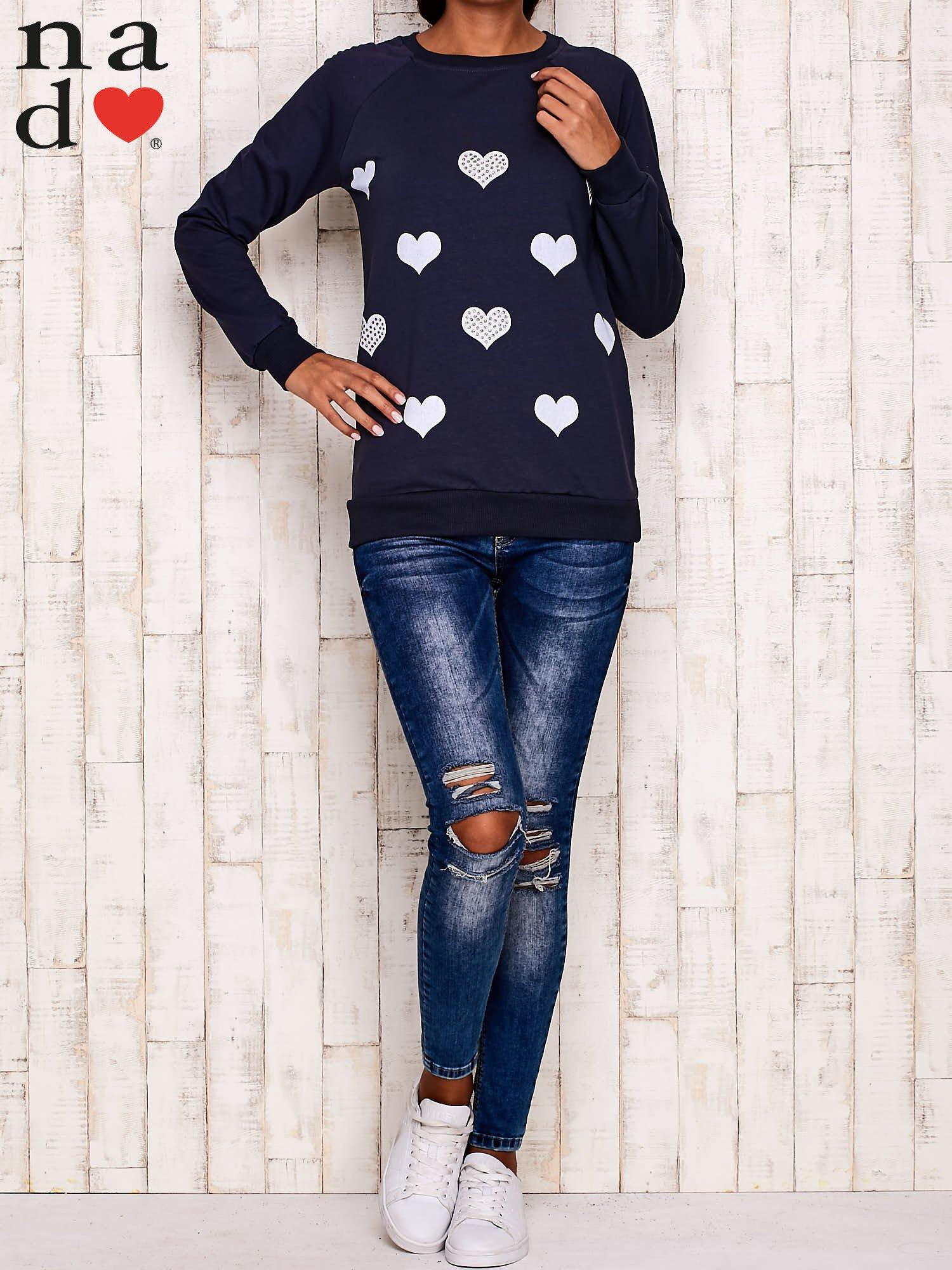 Grafitowa bluza z serduszkami                                  zdj.                                  2
