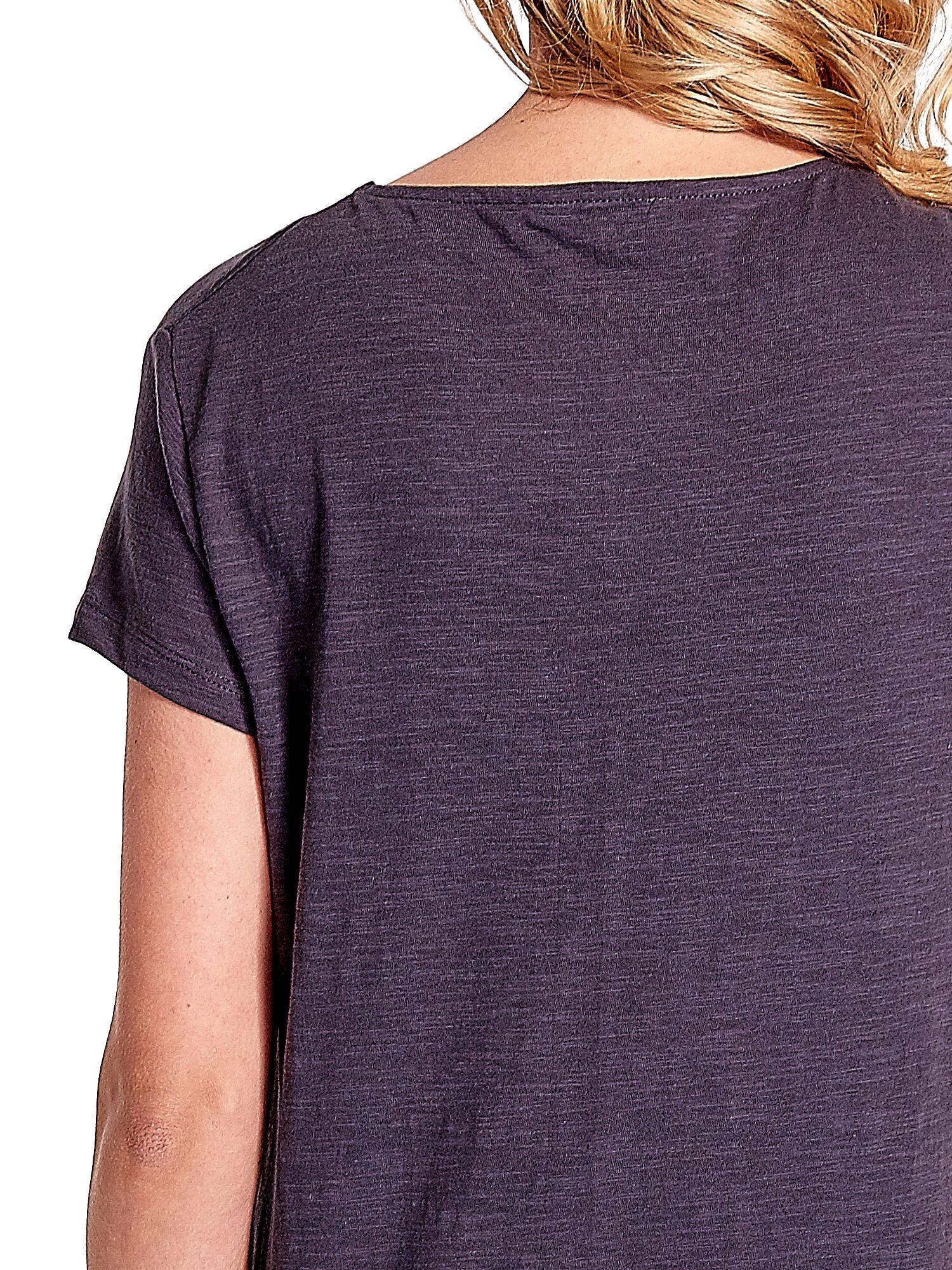 Grafitowy jednolity t-shirt                                  zdj.                                  5
