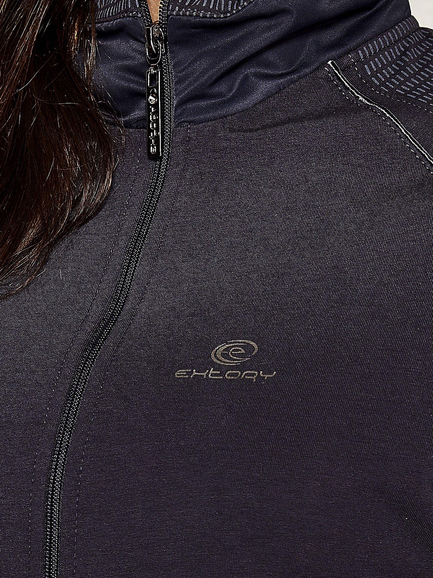 Granatowa bluza sportowa fitness z wiązaniem                                  zdj.                                  4