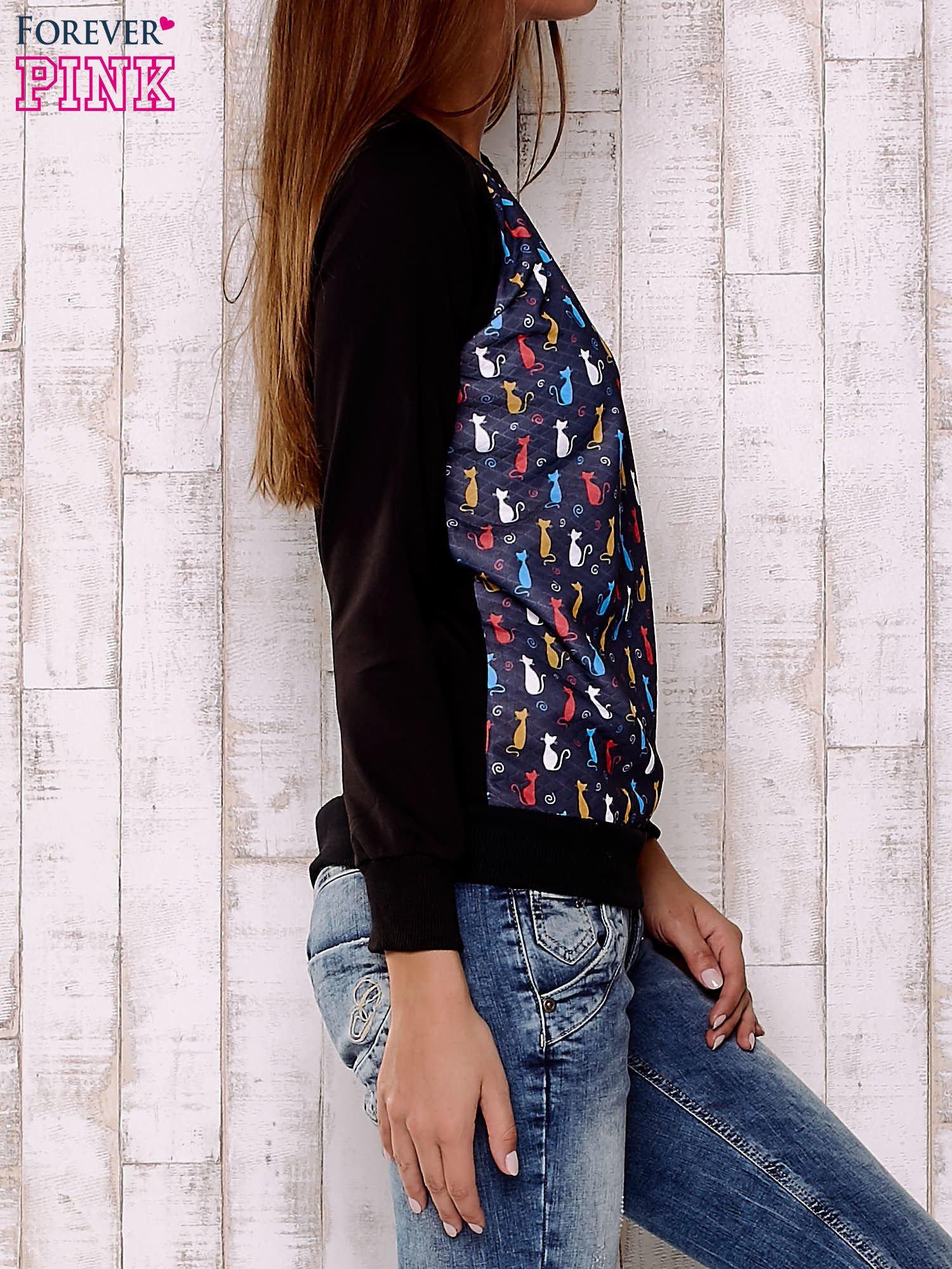 Granatowa bluza z kotami                                  zdj.                                  3
