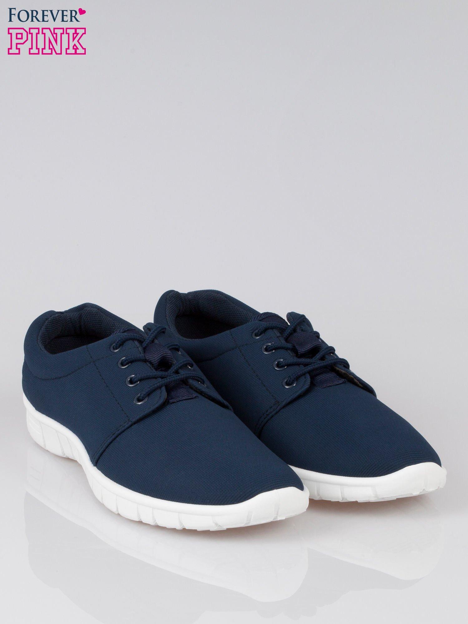 Granatowe buty sportowe textile Superior na podeszwie flex                                  zdj.                                  2