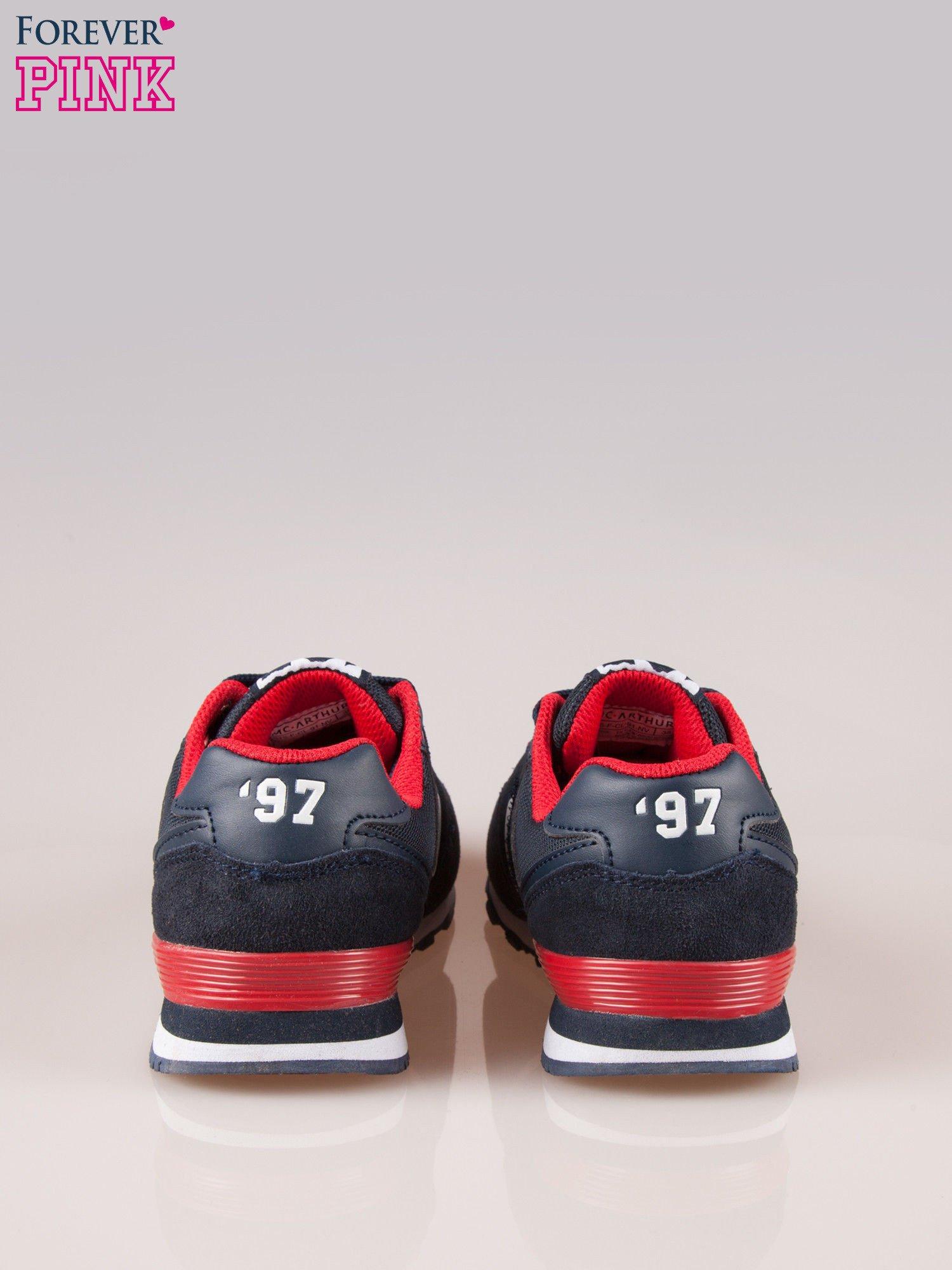 Granatowo-czerwone buty sportowe damskie                                  zdj.                                  3