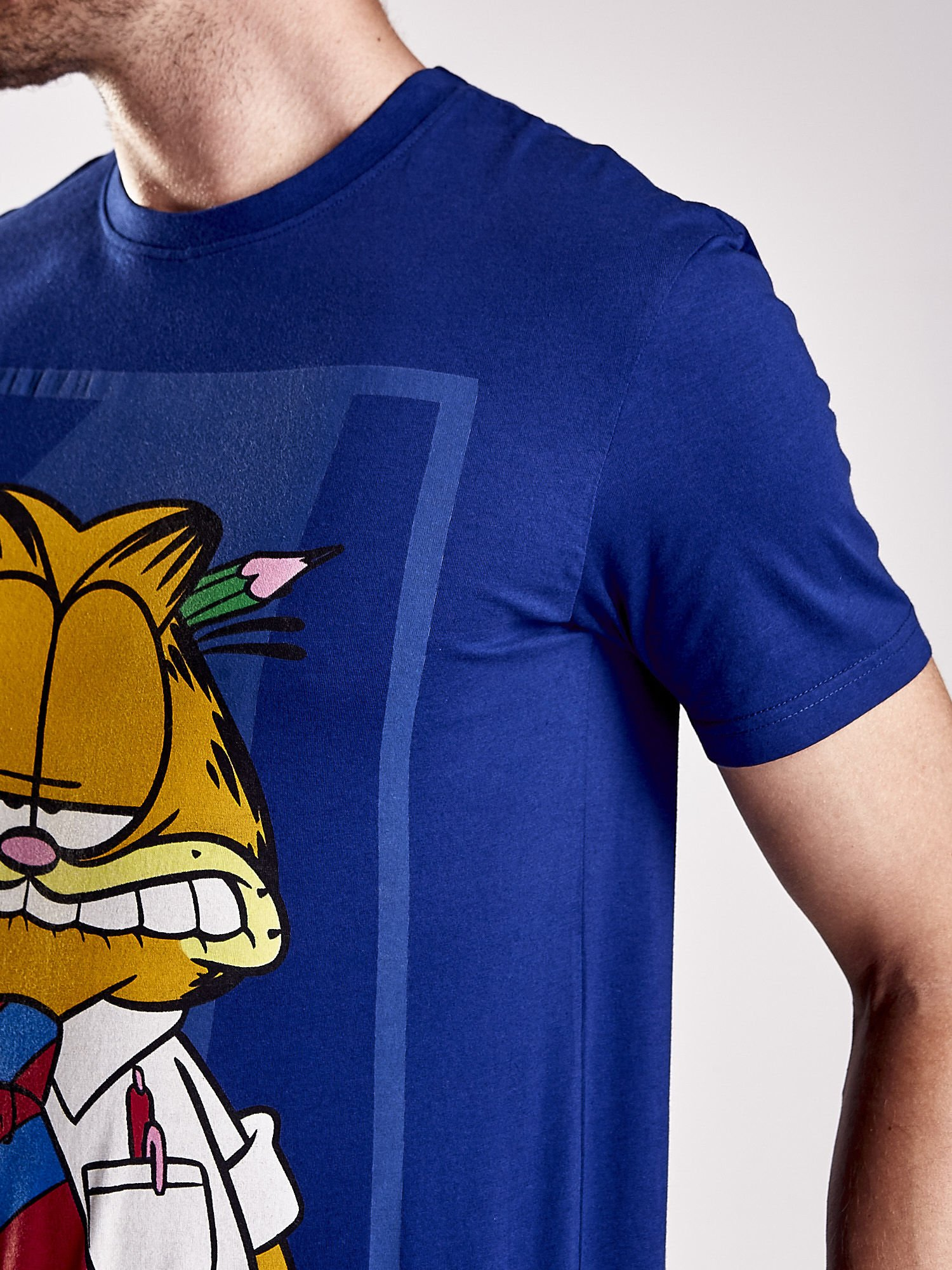Granatowy t-shirt męski GARFIELD                                  zdj.                                  7