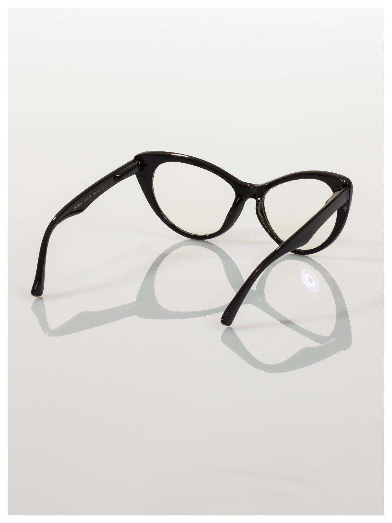 HIT 2016 Modne okulary zerówki typu KOCIE OCZY w stylu Marlin Monroe- soczewki ANTYREFLEKS+system FLEX na zausznikach                                  zdj.                                  5
