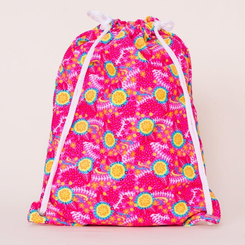 1342714b5c INCA Worek szkolny na basen różowy ze wzorem w kwiaty - Dziecko ...