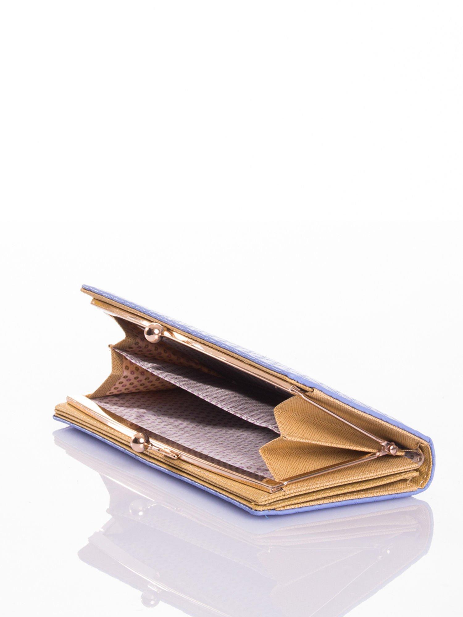 Jasnoniebieski elegancki portfel na bigiel                                  zdj.                                  3