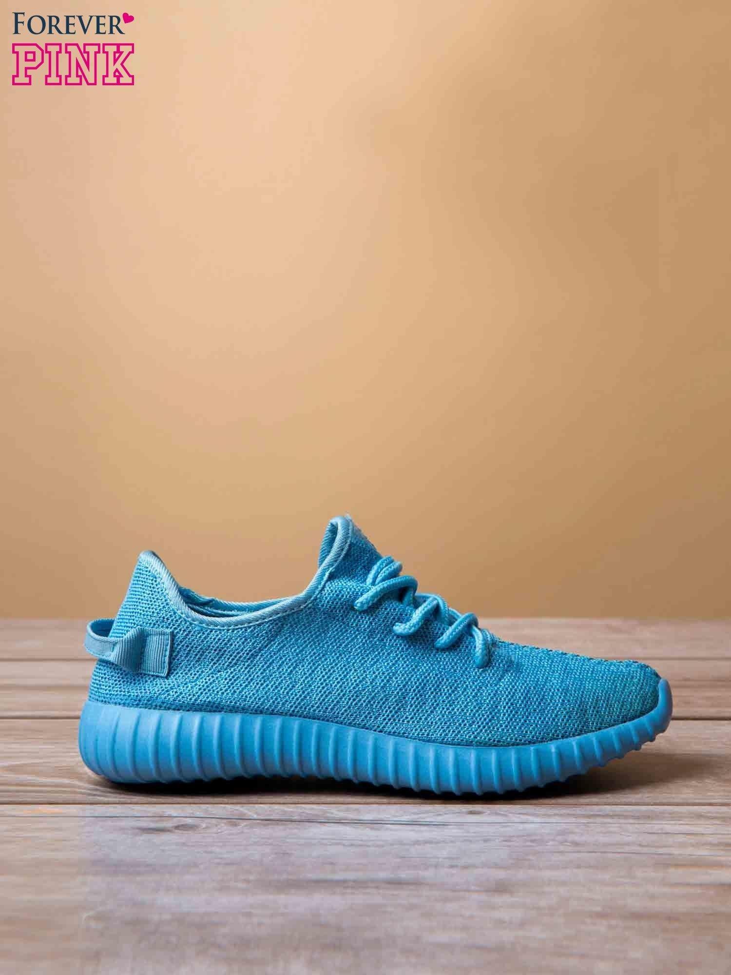 Jasnoniebieskie buty sportowe z tkaniny textile Be Active z uchwytem z tyłu                                  zdj.                                  2