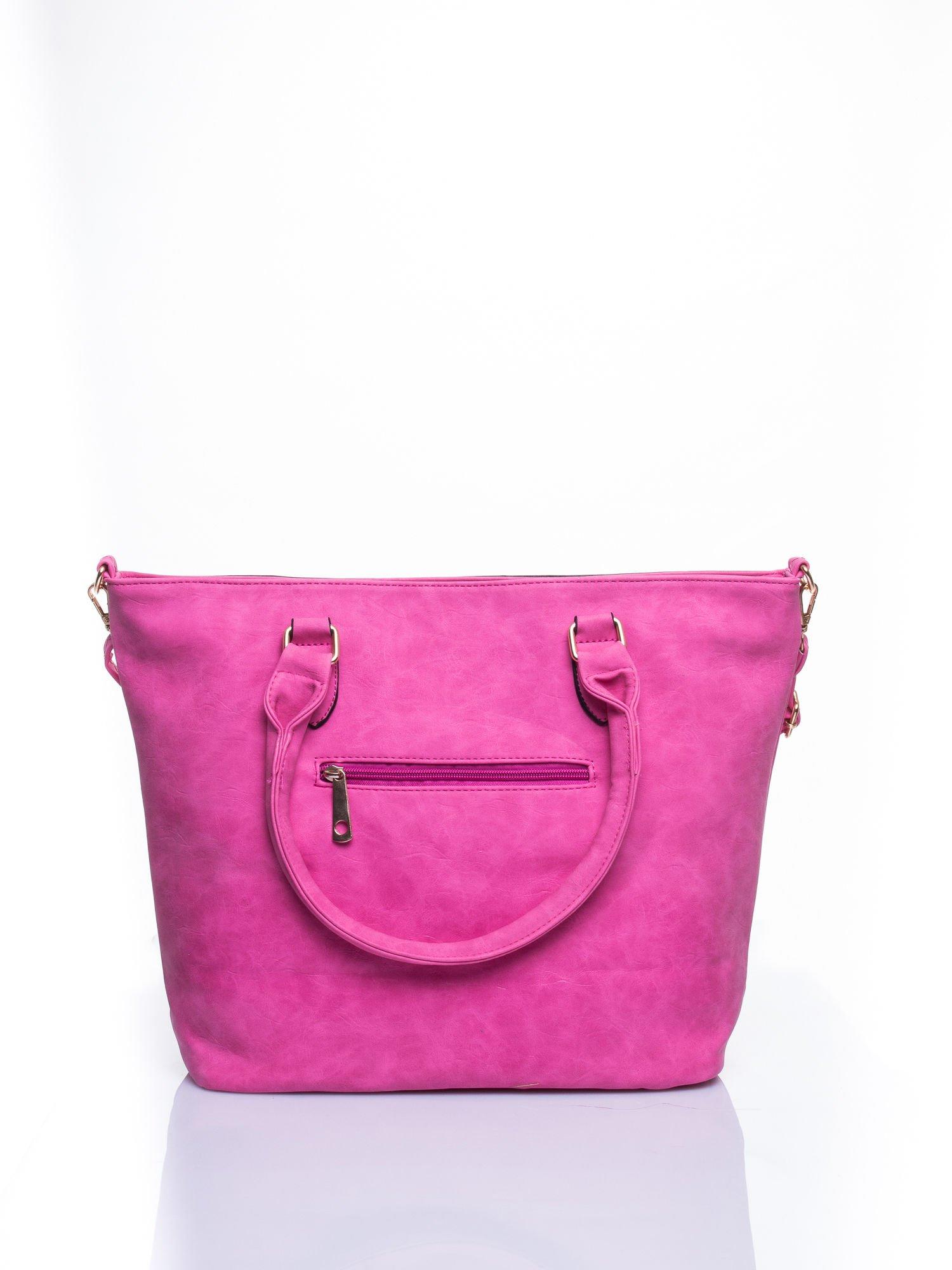 Jasnoróżoa torba city bag na ramię                                  zdj.                                  3