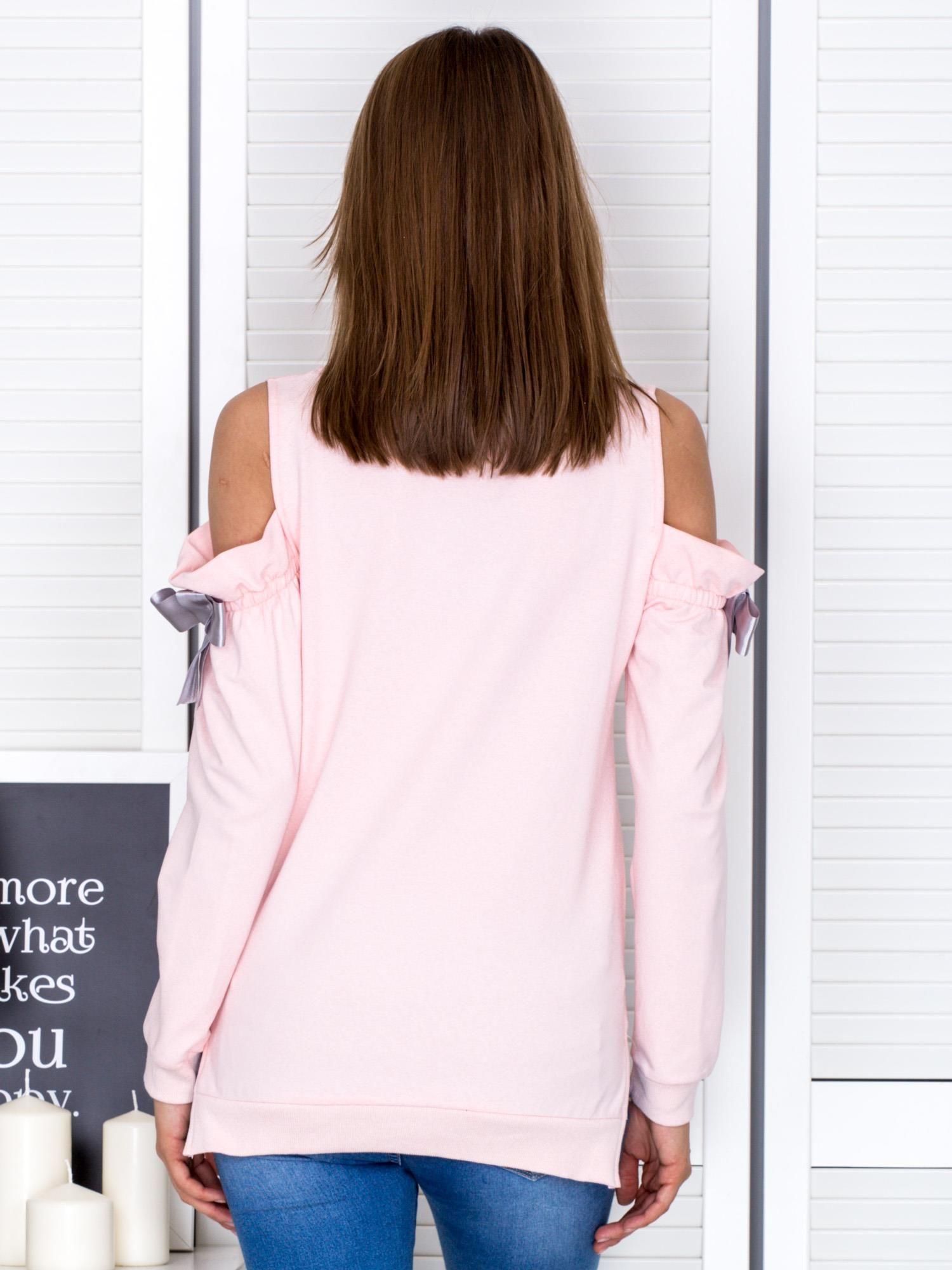 czarna bluza z bocznymi wsążkami