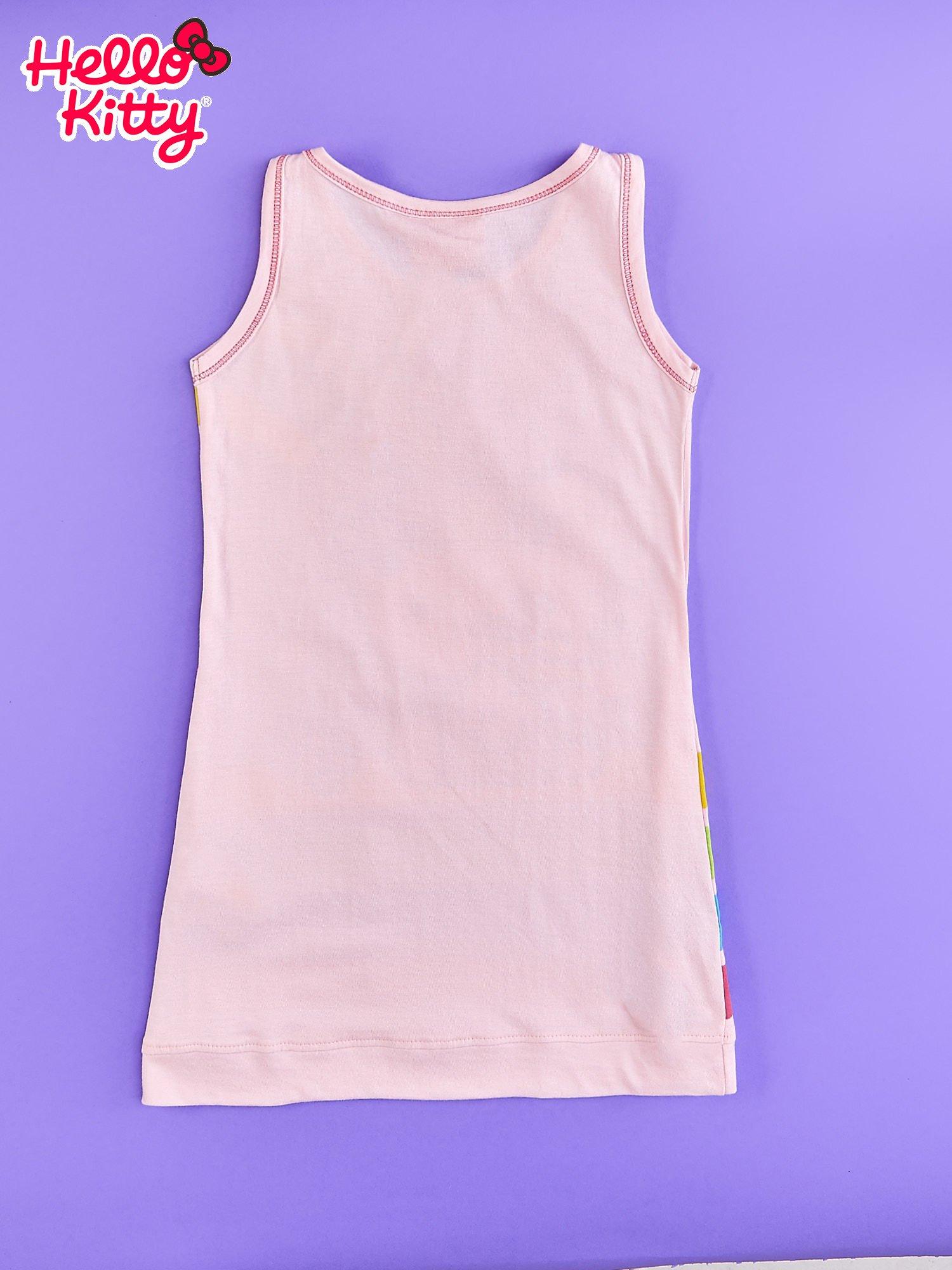 Jasnoróżowa sukienka dla dziewczynki bez rękawów HELLO KITTY                                   zdj.                                  2