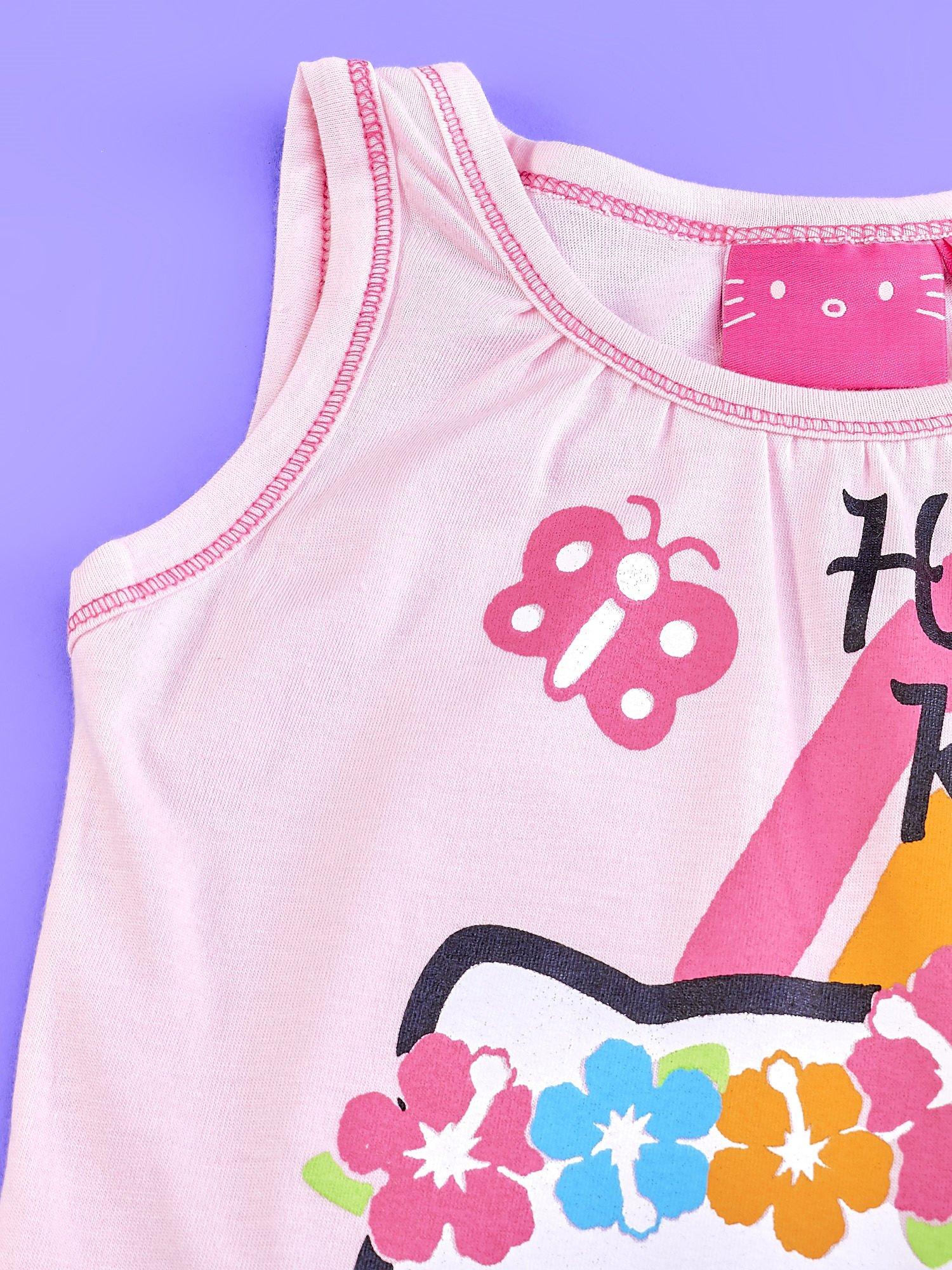 Jasnoróżowa sukienka dla dziewczynki bez rękawów HELLO KITTY                                   zdj.                                  3