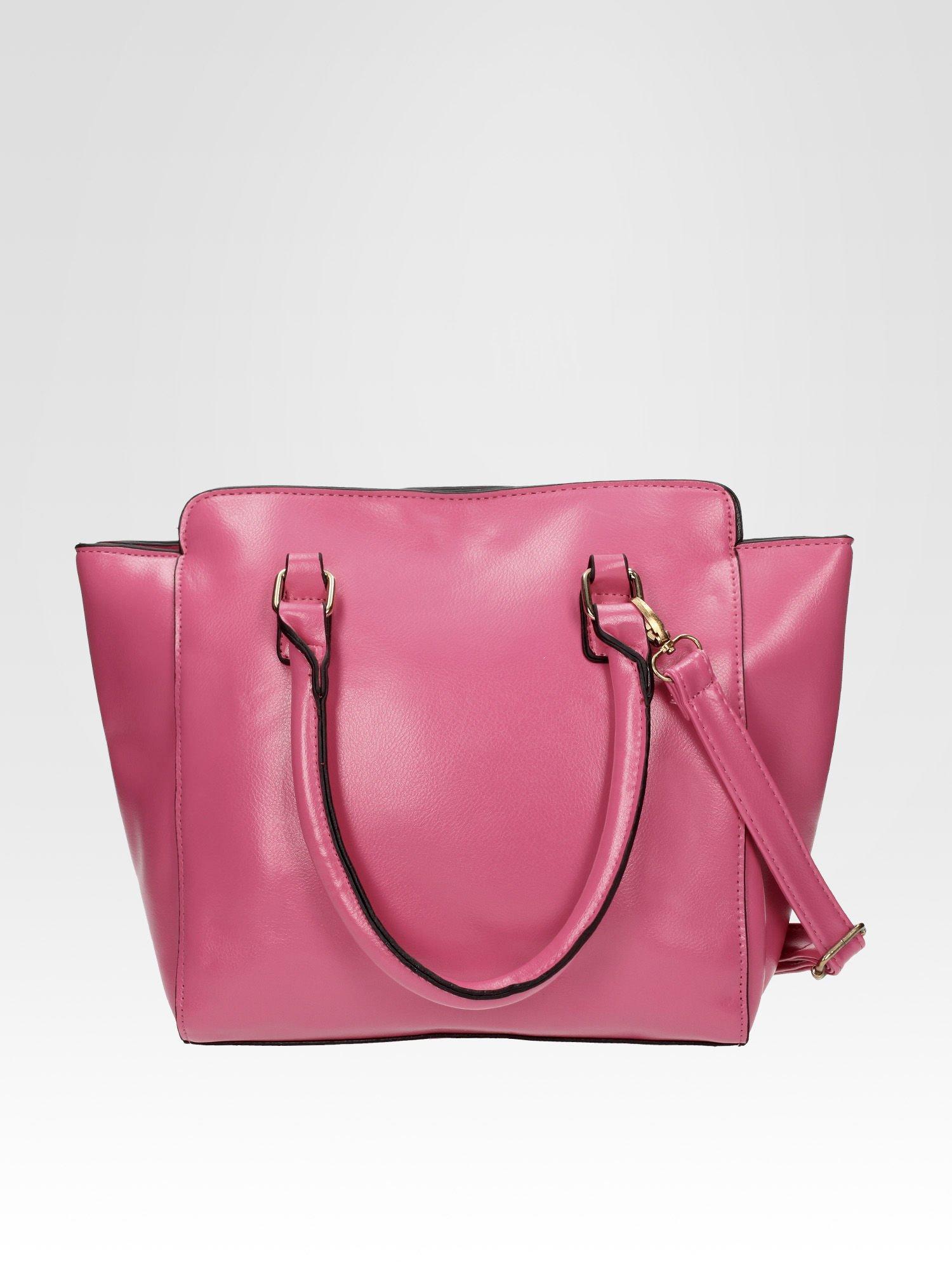 Jasnoróżowa torebka na ramię z dżetami                                  zdj.                                  2