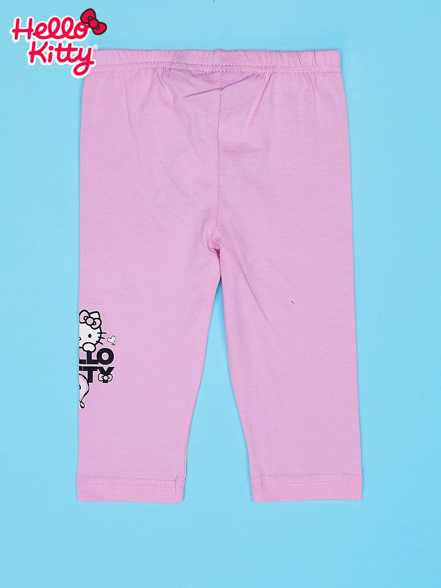 Jasnoróżowe legginsy dla dziewczynki HELLO KITTY                                   zdj.                                  2