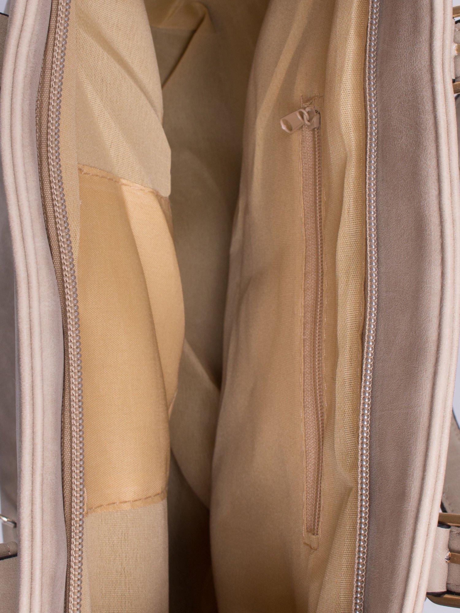 Jasnoszara torba shopper bag z zawieszką                                  zdj.                                  4