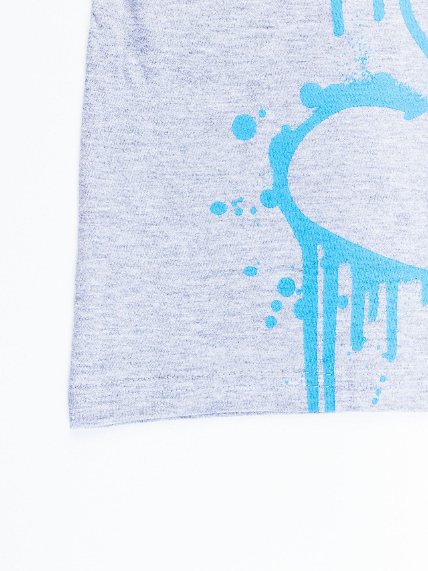 Jasnoszary t-shirt męski SMERFY                                  zdj.                                  12