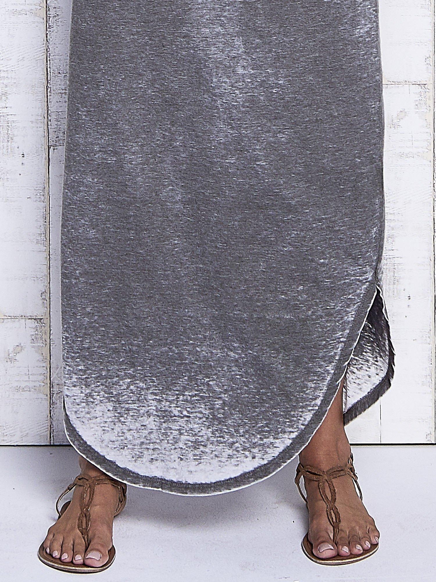 Khaki długa sukienka acid wash                                   zdj.                                  7